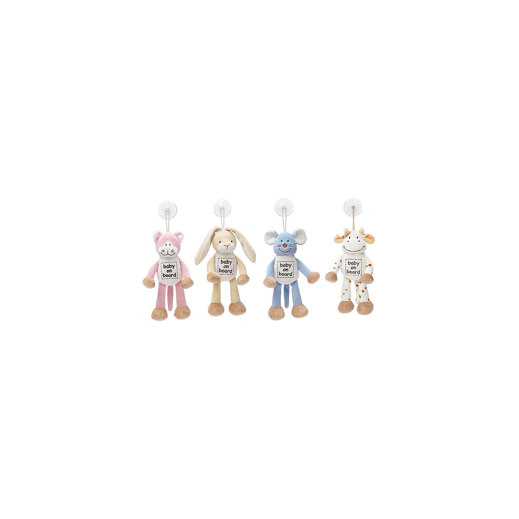 Знак Ребенок в машине Кот, ДинглисарХарактеристики мягкой игрушки Teddykompaniet: <br><br>• размер игрушки: 24 см;<br>• материал: 100% хлопок (безворсовый велюр);<br>• надпись: baby on board;<br>• серия: Динглисар;<br>• тип крепления: присоска.<br><br>Игрушка-знак «Кот» символизирует водителям: ребенок в машине. Мягкая игрушка-подвеска крепится к стеклу автомобиля с помощью присоски. Игрушка выполнена из гипоаллергенного материала, внутри мягкий наполнитель. <br><br>Знак Ребенок в машине Кот, Динглисар можно купить в нашем интернет-магазине.<br><br>Ширина мм: 50<br>Глубина мм: 100<br>Высота мм: 100<br>Вес г: 20<br>Возраст от месяцев: 0<br>Возраст до месяцев: 12<br>Пол: Женский<br>Возраст: Детский<br>SKU: 5219507