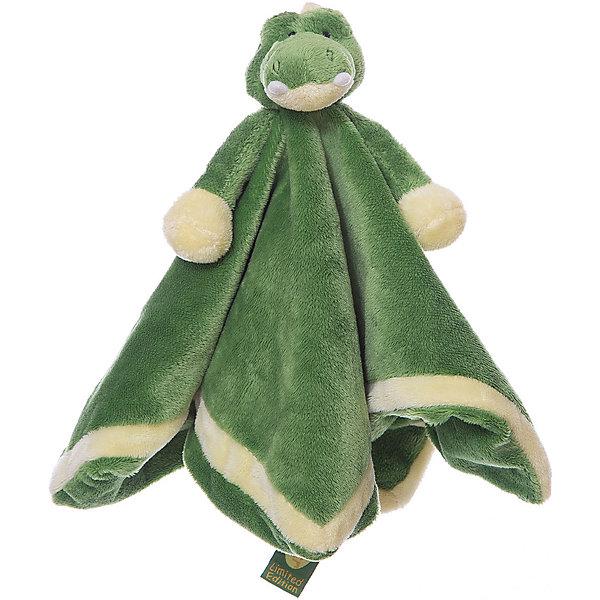 игрушка-салфетка Крокодил (LE), ДинглисарМягкие игрушки животные<br>Характеристики мягкой игрушки Teddykompaniet: <br><br>• размер салфетки: 35х35 см;<br>• материал: 100% хлопок (безворсовый велюр);<br>• серия: Динглисар.<br><br>Мягкая велюровая салфетка для малышей декорирована объемной мордочкой крокодильчика, которая находится в центре салфетки. Малыш теребит салфетку в ручках, прикосновения к мягкому велюровому материалу развивают тактильное восприятие крохи. Салфетка хорошо впитывает влагу, ее можно использовать на этапе прорезывания зубок, когда у малыша обильное слюноотделение. <br><br>В процессе игры развивается мелкая моторика пальчиков, цветовосприятие, тактильное восприятие. <br><br>Игрушку-салфетку Крокодил, Динглисар можно купить в нашем интернет-магазине.<br>Ширина мм: 100; Глубина мм: 50; Высота мм: 100; Вес г: 100; Возраст от месяцев: 0; Возраст до месяцев: 12; Пол: Унисекс; Возраст: Детский; SKU: 5219516;