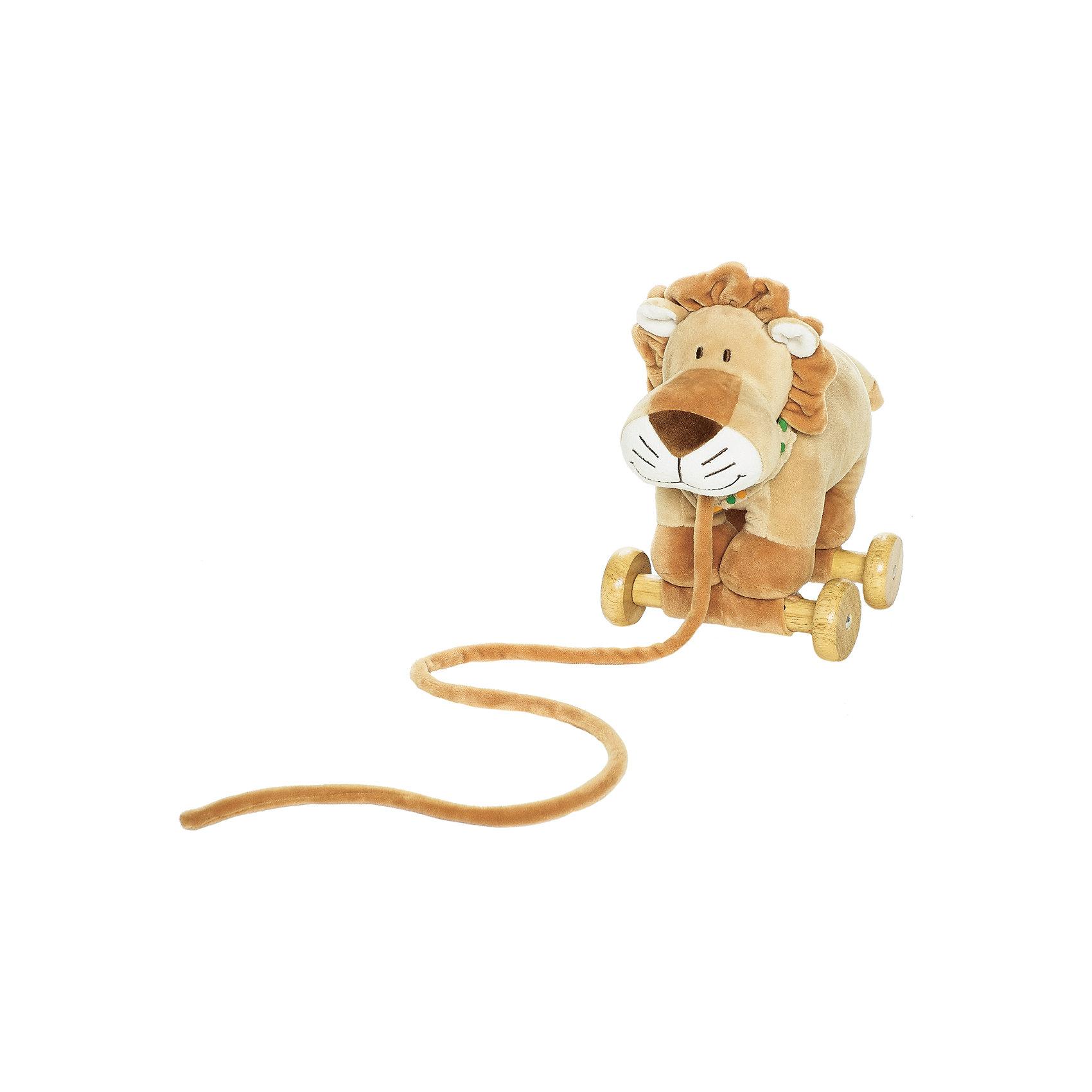 Каталка Лев, ДинглисарХарактеристики детской каталки Teddykompaniet: <br><br>• материал: 100% хлопок (велюр), дерево;<br>• серия: Динглисар;<br>• тип каталки: на веревочке.<br><br>Игрушку-каталку «Лев» из серии «Динглисар» малыши тянут за веревочку. Благодаря деревянным колесикам, которые расположены на широком шасси, игрушка устойчива, легко едет по ровной поверхности. В процессе игры развивается координация движений, пространственное восприятие, образное мышление. <br><br>Каталку Лев, Динглисар можно купить в нашем интернет-магазине.<br><br>Ширина мм: 320<br>Глубина мм: 320<br>Высота мм: 320<br>Вес г: 200<br>Возраст от месяцев: 0<br>Возраст до месяцев: 12<br>Пол: Унисекс<br>Возраст: Детский<br>SKU: 5219519