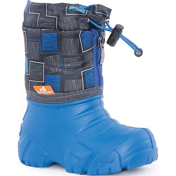 Сапоги Kids для мальчика NordmanСноубутсы<br>Характеристики товара:<br><br>• цвет: синий<br>• материал верха: текстиль<br>• материал подкладки: шерстяной мех<br>• материал подошвы: ЭВА<br>• подошва не скользит<br>• застежка: молния<br>• температурный режим: от -10° до +10° С<br>• верх с водоотталкивающей пропиткой<br>• толстая устойчивая подошва<br>• низ не промокает<br>• страна бренда: Российская Федерация<br>• страна изготовитель: Российская Федерация<br><br>При выборе демисезонной и зимней обуви для ребенка необходимо убедиться, что она удобная и теплая. Такие сапожки обеспечат детям комфорт даже в мороз, а непромокающая нижняя часть  оставит ножки в сухости. Сапожки легко снимаются и надеваются, хорошо сидят на ноге. Внутри - специальная теплая подкладка, с которой холода не страшны!<br>Обувь от бренда Nordman - это качественные российские товары, произведенные с применением как натуральных, так и высокотехнологичных материалов. Обувь выделяется стильным дизайном и проработанными деталями. Полностью адаптирована под российскую погоду! Изделие производится из качественных и проверенных материалов, которые безопасны для детей.<br><br>Сапоги для мальчика от бренда Nordman можно купить в нашем интернет-магазине.<br><br>Ширина мм: 257<br>Глубина мм: 180<br>Высота мм: 130<br>Вес г: 420<br>Цвет: синий<br>Возраст от месяцев: 24<br>Возраст до месяцев: 24<br>Пол: Мужской<br>Возраст: Детский<br>Размер: 24/25,22/23,34/35,30/31,32/33,28/29,26/27<br>SKU: 5219843