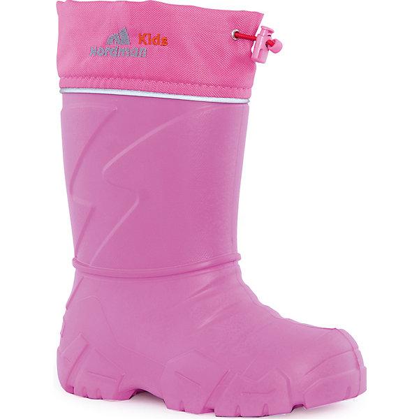 Сапоги Kids для девочки NordmanРезиновые сапоги<br>Характеристики товара:<br><br>• цвет: розовый<br>• материал верха: текстиль,  EVA<br>• материал подкладки: мех<br>• материал подошвы:  EVA<br>• подошва не скользит<br>• съемный вкладыш из меха<br>• температурный режим: от -17° до +15° С<br>• верх с утяжкой и стоппером<br>• толстая устойчивая подошва<br>• низ не промокает<br>• страна бренда: Российская Федерация<br>• страна изготовитель: Российская Федерация<br><br>При выборе демисезонной и зимней обуви для ребенка необходимо убедиться, что она удобная и теплая. Такие сапожки обеспечат детям комфорт даже в мороз, а непромокающая нижняя часть  оставит ножки в сухости. Сапожки легко снимаются и надеваются, хорошо сидят на ноге. Внутри - специальная теплая подкладка, с которой холода не страшны! Сапоги очень легкие - идеально для детской ножки.<br>Обувь от бренда Nordman - это качественные российские товары, произведенные с применением как натуральных, так и высокотехнологичных материалов. Обувь выделяется стильным дизайном и проработанными деталями. Полностью адаптирована под российскую погоду! Изделие производится из качественных и проверенных материалов, которые безопасны для детей.<br><br>Сапоги для девочки от бренда Nordman можно купить в нашем интернет-магазине.<br>Ширина мм: 257; Глубина мм: 180; Высота мм: 130; Вес г: 420; Цвет: розовый; Возраст от месяцев: 132; Возраст до месяцев: 144; Пол: Женский; Возраст: Детский; Размер: 34/35; SKU: 5219856;