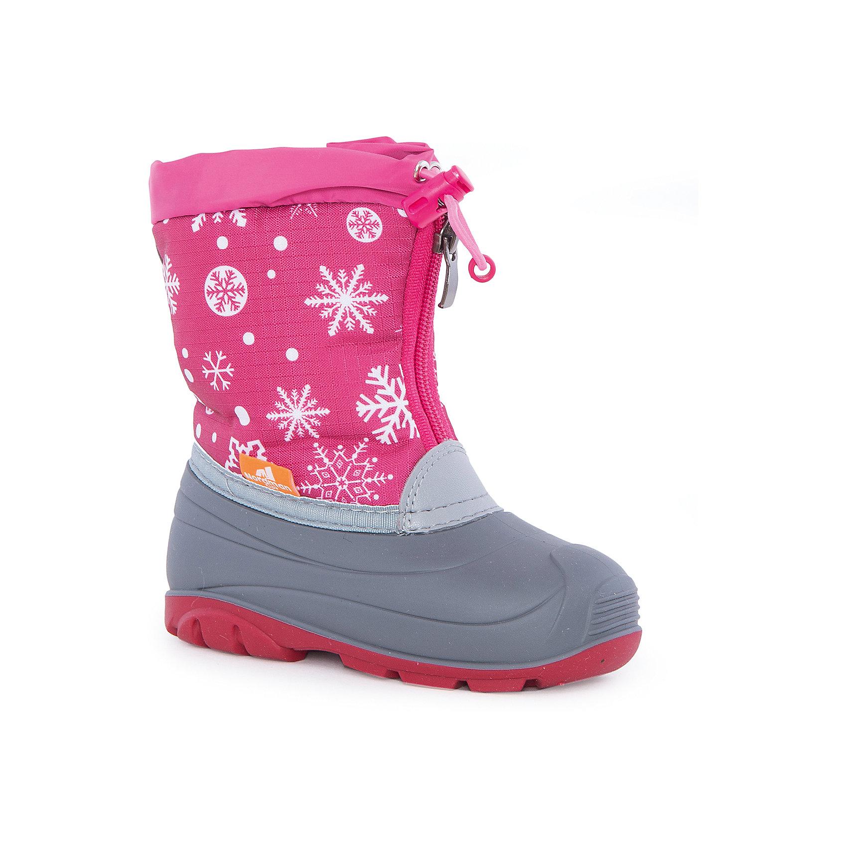 Сапоги для девочки NordmanХарактеристики товара:<br><br>• цвет: розовый<br>• материал верха: текстиль (Rip Stop)<br>• материал подкладки: мех,<br>• материал подошвы: ТЭП<br>• подошва не скользит<br>• водоотталкивающая пропитка верха<br>• температурный режим: от -15° до +10° С<br>• молния<br>• толстая устойчивая подошва<br>• низ не промокает<br>• страна бренда: Российская Федерация<br>• страна изготовитель: Российская Федерация<br><br>При выборе демисезонной и зимней обуви для ребенка необходимо убедиться, что она удобная и теплая. Такие сапожки обеспечат детям комфорт даже в мороз, а непромокающая нижняя часть  оставит ножки в сухости. Сапожки легко снимаются и надеваются, хорошо сидят на ноге. Внутри - специальная теплая подкладка, с которой холода не страшны! Сапоги очень легкие - идеально для детской ножки.<br>Обувь от бренда Nordman - это качественные российские товары, произведенные с применением как натуральных, так и высокотехнологичных материалов. Обувь выделяется стильным дизайном и проработанными деталями. Полностью адаптирована под российскую погоду! Изделие производится из качественных и проверенных материалов, которые безопасны для детей.<br><br>Сапоги для девочки от бренда Nordman можно купить в нашем интернет-магазине.<br><br>Ширина мм: 257<br>Глубина мм: 180<br>Высота мм: 130<br>Вес г: 420<br>Цвет: розовый<br>Возраст от месяцев: 84<br>Возраст до месяцев: 96<br>Пол: Женский<br>Возраст: Детский<br>Размер: 31,27,28,29,30,22,23,24,25,26<br>SKU: 5219894