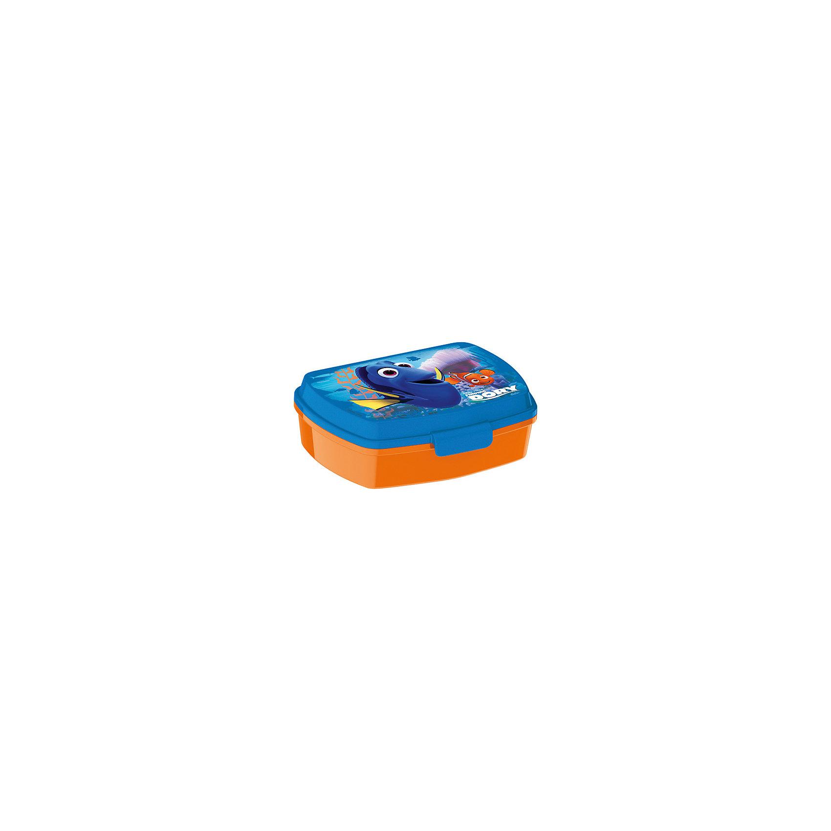 Бутербродница В поисках Дори 17,5*14x5,8 смБутылки для воды и бутербродницы<br>Характеристики товара:<br><br>• материал: пластик<br>• размер: 17x14x6 см<br>• для бутербродов<br>• вес: 90 г<br>• с рисунком<br><br>Такая бутербродница станет отличным подарком для ребенка! Она отличается тем, что на предмете изображена Дори из мультика В поисках Дори. Есть из предметов с любимым героем многих современных детей - всегда приятнее. Бутербродница очень удобна, объем оптимален для детей, сюда как раз вместятся бутерброды. Плюс - изделие дополнено специальной крышкой. Использовать его можно и в школе, и на улице!<br>Бутербродница выпущена в удобном формате, размер - универсальный. Изделие производится из качественных и проверенных материалов, которые безопасны для детей.<br><br>Бутербродницу В поисках Дори можно купить в нашем интернет-магазине.<br><br>Ширина мм: 175<br>Глубина мм: 140<br>Высота мм: 58<br>Вес г: 90<br>Возраст от месяцев: 36<br>Возраст до месяцев: 120<br>Пол: Унисекс<br>Возраст: Детский<br>SKU: 5220406