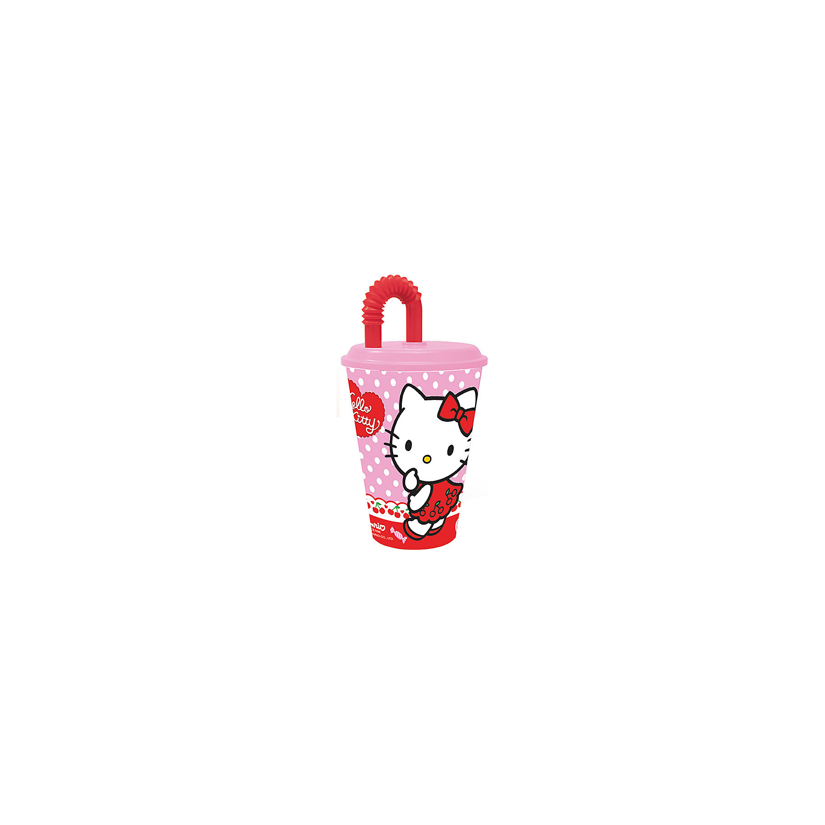 МФК-профит Бокал Hello Kitty 450 мл с крышкой и трубочкой бокал monte carlo  объем 600 мл  высота