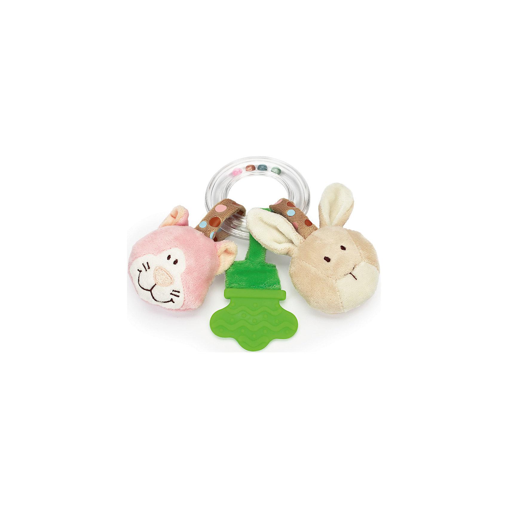 Погремушка-прорезыватель Кот и Кролик, ДинглисарХарактеристики прорезывателя-кольца с погремушкой Teddykompaniet: <br><br>• тип игрушки: прорезыватель-кольцо с погремушкой;<br>• размер: 17 см;<br>• материал: 100% хлопок (безворсовый велюр), пластик;<br>• серия: Динглисар.<br><br>Прозрачное кольцо заполнено разноцветными шариками, которые создают мелодичный перезвон при встряхивании погремушки. <br>Прорезыватель помогает малышу массажировать воспаленные десны на этапе прорезывания зубов. Прорезыватель имеет рельефную поверхность. <br>Мягкие игрушки с мордочками животных, которые ласково улыбаются малышу, выполнены из гипоаллергенного материала, приятного на ощупь. <br><br>Погремушку-прорезыватель Кот и Кролик, Динглисар можно купить в нашем интернет-магазине.<br><br>Ширина мм: 100<br>Глубина мм: 50<br>Высота мм: 100<br>Вес г: 100<br>Возраст от месяцев: 0<br>Возраст до месяцев: 12<br>Пол: Женский<br>Возраст: Детский<br>SKU: 5220841