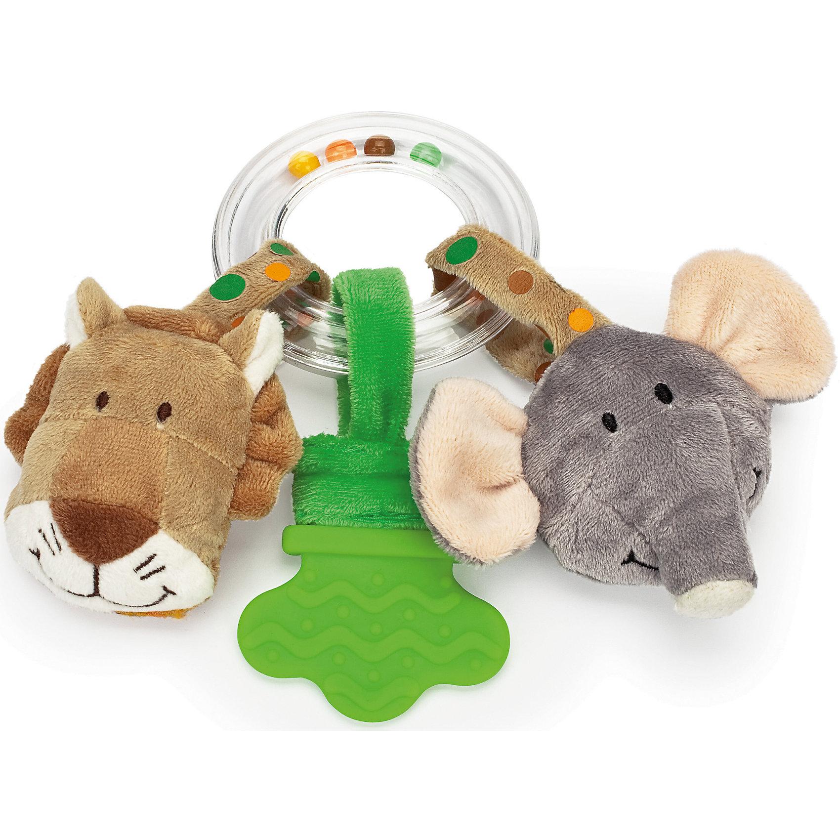 Погремушка-прорезывательСлон и Лев, ДинглисарХарактеристики прорезывателя-кольца с погремушкой Teddykompaniet: <br><br>• тип игрушки: прорезыватель-кольцо с погремушкой;<br>• размер: 17 см;<br>• материал: 100% хлопок (безворсовый велюр), пластик;<br>• серия: Динглисар.<br><br>Прозрачное кольцо заполнено разноцветными шариками, которые создают мелодичный перезвон при встряхивании погремушки. <br>Прорезыватель помогает малышу массажировать воспаленные десны на этапе прорезывания зубов. Прорезыватель имеет рельефную поверхность. <br>Мягкие игрушки с мордочками животных, которые ласково улыбаются малышу, выполнены из гипоаллергенного материала, приятного на ощупь. <br><br>Погремушку-прорезыватель Слон и Лев, Динглисар можно купить в нашем интернет-магазине.<br><br>Ширина мм: 100<br>Глубина мм: 50<br>Высота мм: 100<br>Вес г: 100<br>Возраст от месяцев: 0<br>Возраст до месяцев: 12<br>Пол: Унисекс<br>Возраст: Детский<br>SKU: 5220842