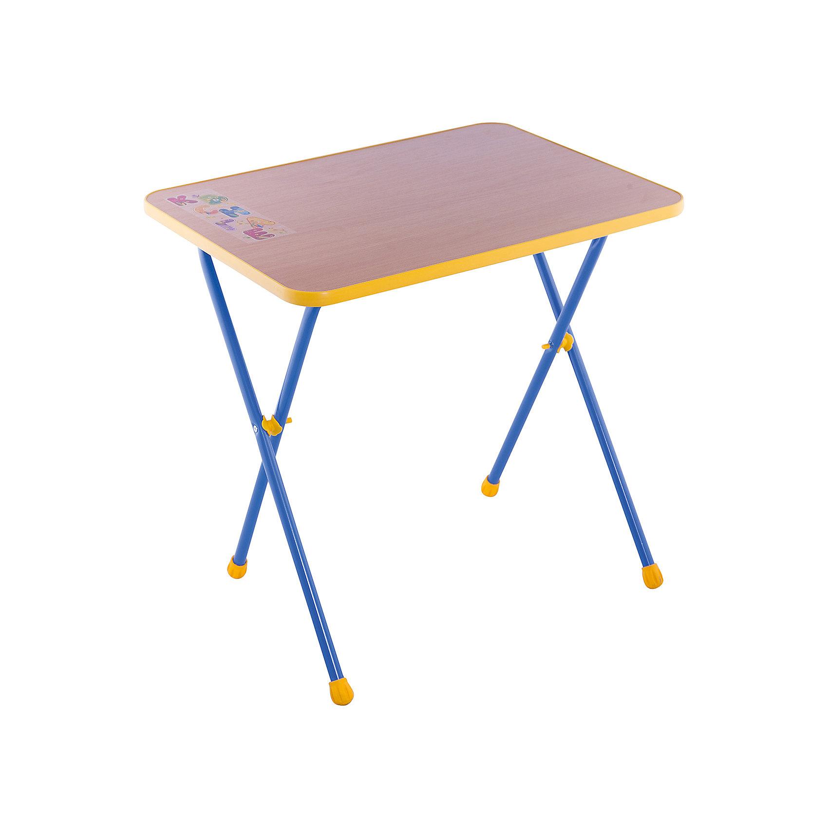 Складной стол СА1. Алина, Ника, букДетские столы и стулья<br>Характеристики товара:<br><br>• материал: металл, пластик<br>• размер столешницы: 600х450 мм<br>• высота стола: 580 мм<br>• размер упаковки: 760х100х620 мм<br>• вес в упаковке: 5 кг<br>• складной<br>• на столешнице - рисунок<br>• возраст: от 3 до 7 лет<br>• страна бренда: Российская Федерация<br>• страна производства: Российская Федерация<br><br>Детская мебель может быть удобной и эргономичной! Этот столик разработан специально для детей от трех до семи лет. Он легко складывается и раскладывается, занимает немного места. Столешница украшена симпатичным рисунком, который понравится малышам. Отличное решение для игр, творчества и обучения!<br>Правильно подобранная мебель помогает ребенку расти здоровым, формироваться правильной осанке. Изделие производится из качественных сертифицированных материалов, безопасных даже для самых маленьких.<br><br>Складной стол Алина (ЛДСП), Ника, бук от бренда Ника можно купить в нашем интернет-магазине.<br><br>Ширина мм: 760<br>Глубина мм: 100<br>Высота мм: 620<br>Вес г: 5100<br>Возраст от месяцев: 36<br>Возраст до месяцев: 84<br>Пол: Унисекс<br>Возраст: Детский<br>SKU: 5223586