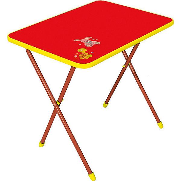 Складной стол СА1. Алина, Ника, красныйДетские столы и стулья<br>Характеристики товара:<br><br>• цвет: красный<br>• материал: металл, пластик<br>• размер столешницы: 600х450 мм<br>• высота стола: 580 мм<br>• размер упаковки: 760х100х620 мм<br>• вес в упаковке: 5 кг<br>• складной<br>• на столешнице - рисунок<br>• возраст: от 3 до 7 лет<br>• страна бренда: Российская Федерация<br>• страна производства: Российская Федерация<br><br>Детская мебель может быть удобной и эргономичной! Этот столик разработан специально для детей от трех до семи лет. Он легко складывается и раскладывается, занимает немного места. Столешница украшена симпатичным рисунком, который понравится малышам. Отличное решение для игр, творчества и обучения!<br>Правильно подобранная мебель помогает ребенку расти здоровым, формироваться правильной осанке. Изделие производится из качественных сертифицированных материалов, безопасных даже для самых маленьких.<br><br>Складной стол Алина (ЛДСП), Ника, красный от бренда Ника можно купить в нашем интернет-магазине.<br><br>Ширина мм: 760<br>Глубина мм: 100<br>Высота мм: 620<br>Вес г: 5100<br>Возраст от месяцев: 36<br>Возраст до месяцев: 84<br>Пол: Унисекс<br>Возраст: Детский<br>SKU: 5223587