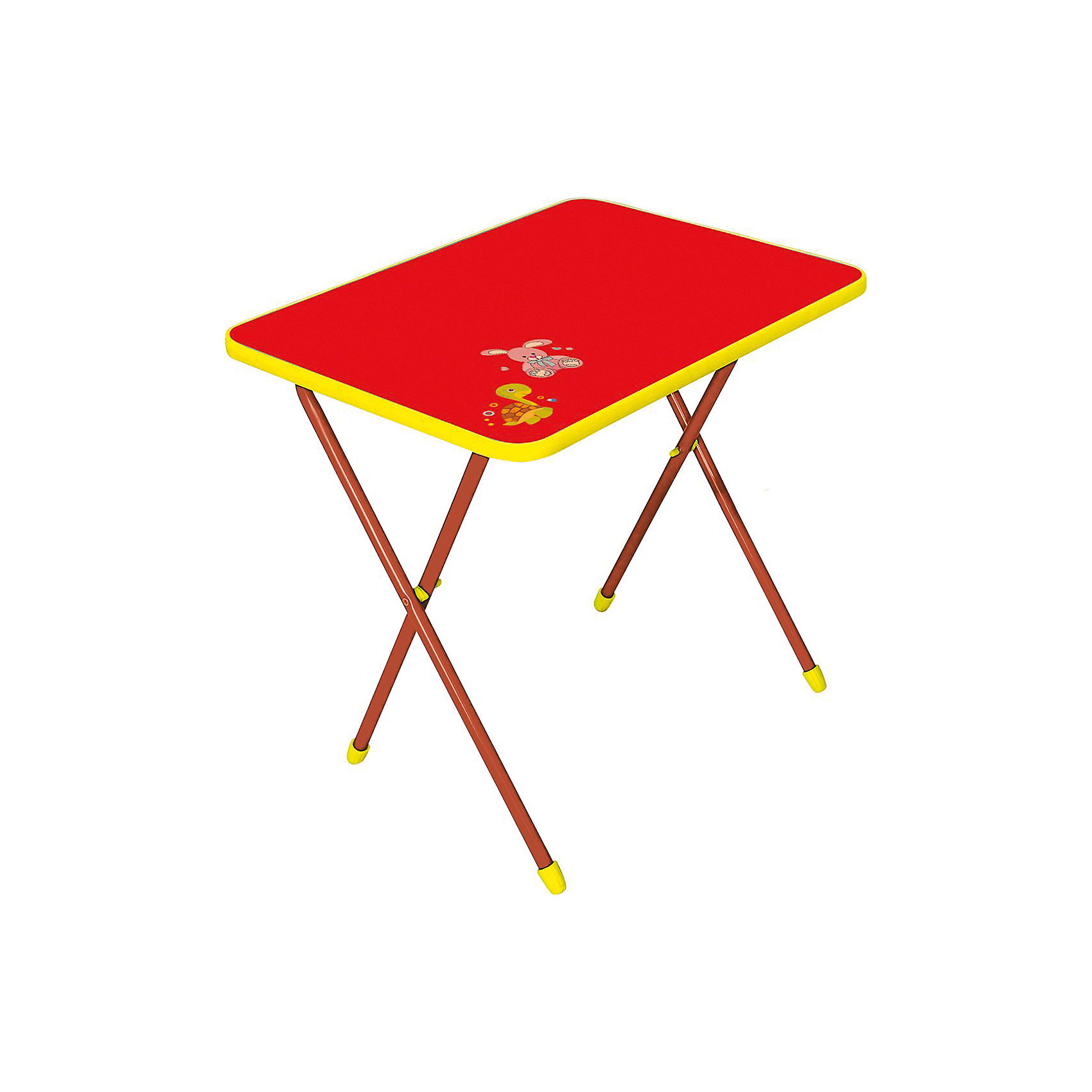 Складной стол СА1. Алина, Ника, красныйСтолы и стулья<br>Характеристики товара:<br><br>• цвет: красный<br>• материал: металл, пластик<br>• размер столешницы: 600х450 мм<br>• высота стола: 580 мм<br>• размер упаковки: 760х100х620 мм<br>• вес в упаковке: 5 кг<br>• складной<br>• на столешнице - рисунок<br>• возраст: от 3 до 7 лет<br>• страна бренда: Российская Федерация<br>• страна производства: Российская Федерация<br><br>Детская мебель может быть удобной и эргономичной! Этот столик разработан специально для детей от трех до семи лет. Он легко складывается и раскладывается, занимает немного места. Столешница украшена симпатичным рисунком, который понравится малышам. Отличное решение для игр, творчества и обучения!<br>Правильно подобранная мебель помогает ребенку расти здоровым, формироваться правильной осанке. Изделие производится из качественных сертифицированных материалов, безопасных даже для самых маленьких.<br><br>Складной стол Алина (ЛДСП), Ника, красный от бренда Ника можно купить в нашем интернет-магазине.<br><br>Ширина мм: 760<br>Глубина мм: 100<br>Высота мм: 620<br>Вес г: 5100<br>Возраст от месяцев: 36<br>Возраст до месяцев: 84<br>Пол: Унисекс<br>Возраст: Детский<br>SKU: 5223587