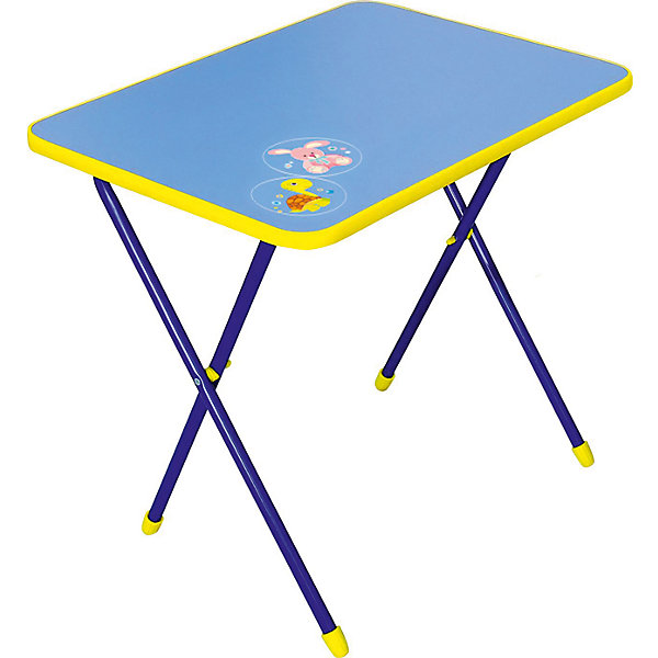Складной стол СА1. Алина, Ника, синийДетские столы и стулья<br>Характеристики товара:<br><br>• цвет: синий<br>• материал: металл, пластик<br>• размер столешницы: 600х450 мм<br>• высота стола: 580 мм<br>• размер упаковки: 760х100х620 мм<br>• вес в упаковке: 5 кг<br>• складной<br>• на столешнице - рисунок<br>• возраст: от 3 до 7 лет<br>• страна бренда: Российская Федерация<br>• страна производства: Российская Федерация<br><br>Детская мебель может быть удобной и эргономичной! Этот столик разработан специально для детей от трех до семи лет. Он легко складывается и раскладывается, занимает немного места. Столешница украшена симпатичным рисунком, который понравится малышам. Отличное решение для игр, творчества и обучения!<br>Правильно подобранная мебель помогает ребенку расти здоровым, формироваться правильной осанке. Изделие производится из качественных сертифицированных материалов, безопасных даже для самых маленьких.<br><br>Складной стол Алина (ЛДСП), Ника, синий от бренда Ника можно купить в нашем интернет-магазине.<br><br>Ширина мм: 760<br>Глубина мм: 100<br>Высота мм: 620<br>Вес г: 5100<br>Возраст от месяцев: 36<br>Возраст до месяцев: 84<br>Пол: Мужской<br>Возраст: Детский<br>SKU: 5223588