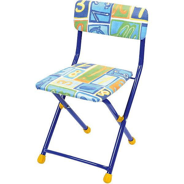 Складной стул с мягким сиденьем КУ1 Алфавит, Ника, синийДетские столы и стулья<br>Характеристики товара:<br><br>• материал: металл, пластик, текстиль<br>• сиденье: 310х270 мм<br>• высота до сиденья: 320 мм<br>• высота со спинкой 570 мм<br>• на ножках пластмассовые наконечники<br>• складной<br>• на сиденье мягкая обивка из флока <br>• возраст: от 3 до 7 лет<br>• страна бренда: Российская Федерация<br>• страна производства: Российская Федерация<br><br>Детская мебель может быть удобной и эргономичной! Этот стул разработан специально для детей от трех до семи лет. Он легко складывается и раскладывается, занимает немного места. Сиденье обито мягким флоком, а на ножках стула установлены пластмассовые наконечники для защиты напольного покрытия. Отличное решение для игр, творчества и обучения!<br>Правильно подобранная мебель помогает ребенку расти здоровым, формироваться правильной осанке. Изделие производится из качественных сертифицированных материалов, безопасных даже для самых маленьких.<br><br>Складной стул с мягким сиденьем КУ1 Алфавит от бренда Ника можно купить в нашем интернет-магазине.<br><br>Ширина мм: 700<br>Глубина мм: 160<br>Высота мм: 330<br>Вес г: 2520<br>Возраст от месяцев: 36<br>Возраст до месяцев: 84<br>Пол: Унисекс<br>Возраст: Детский<br>SKU: 5223589