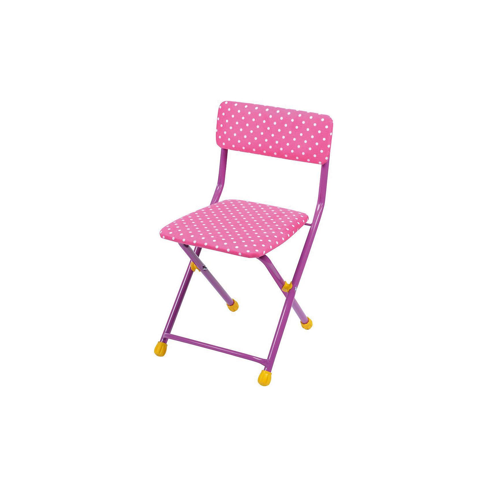 Складной стул с мягким сиденьем КУ1 Горошек, Ника, розовыйДетские столы и стулья<br>Характеристики товара:<br><br>• цвет: розовый <br>• материал: металл, пластик, текстиль<br>• сиденье: 310х270 мм<br>• высота до сиденья: 320 мм<br>• высота со спинкой 570 мм<br>• на ножках пластмассовые наконечники<br>• складной<br>• на сиденье мягкая обивка из флока <br>• возраст: от 3 до 7 лет<br>• страна бренда: Российская Федерация<br>• страна производства: Российская Федерация<br><br>Детская мебель может быть удобной и эргономичной! Этот стул разработан специально для детей от трех до семи лет. Он легко складывается и раскладывается, занимает немного места. Сиденье обито мягким флоком, а на ножках стула установлены пластмассовые наконечники для защиты напольного покрытия. Отличное решение для игр, творчества и обучения!<br>Правильно подобранная мебель помогает ребенку расти здоровым, формироваться правильной осанке. Изделие производится из качественных сертифицированных материалов, безопасных даже для самых маленьких.<br><br>Складной стул с мягким сиденьем КУ1 Горошек, розовый от бренда Ника можно купить в нашем интернет-магазине.<br><br>Ширина мм: 700<br>Глубина мм: 160<br>Высота мм: 330<br>Вес г: 2520<br>Возраст от месяцев: 36<br>Возраст до месяцев: 84<br>Пол: Женский<br>Возраст: Детский<br>SKU: 5223591