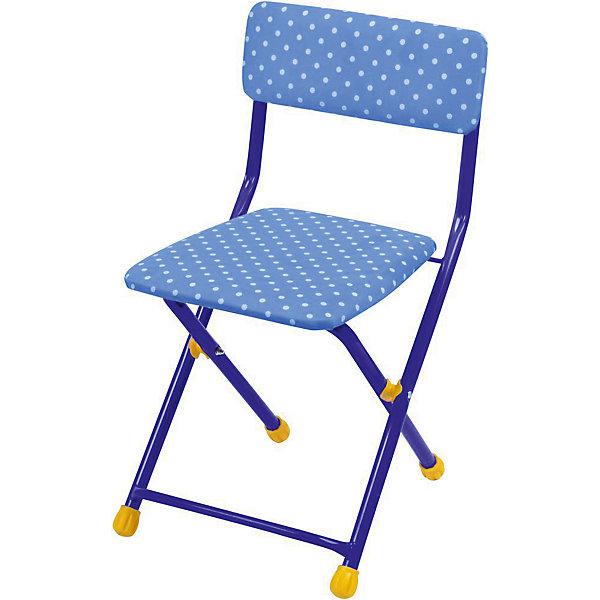 Складной стул с мягким сиденьем КУ1 Горошек, Ника, синийДетские столы и стулья<br>Характеристики товара:<br><br>• цвет: синий<br>• материал: металл, пластик, текстиль<br>• сиденье: 310х270 мм<br>• высота до сиденья: 320 мм<br>• высота со спинкой 570 мм<br>• на ножках пластмассовые наконечники<br>• складной<br>• на сиденье мягкая обивка из флока <br>• возраст: от 3 до 7 лет<br>• страна бренда: Российская Федерация<br>• страна производства: Российская Федерация<br><br>Детская мебель может быть удобной и эргономичной! Этот стул разработан специально для детей от трех до семи лет. Он легко складывается и раскладывается, занимает немного места. Сиденье обито мягким флоком, а на ножках стула установлены пластмассовые наконечники для защиты напольного покрытия. Отличное решение для игр, творчества и обучения!<br>Правильно подобранная мебель помогает ребенку расти здоровым, формироваться правильной осанке. Изделие производится из качественных сертифицированных материалов, безопасных даже для самых маленьких.<br><br>Складной стул с мягким сиденьем КУ1 Горошек, синий от бренда Ника можно купить в нашем интернет-магазине.<br><br>Ширина мм: 700<br>Глубина мм: 160<br>Высота мм: 330<br>Вес г: 2520<br>Возраст от месяцев: 36<br>Возраст до месяцев: 84<br>Пол: Мужской<br>Возраст: Детский<br>SKU: 5223592