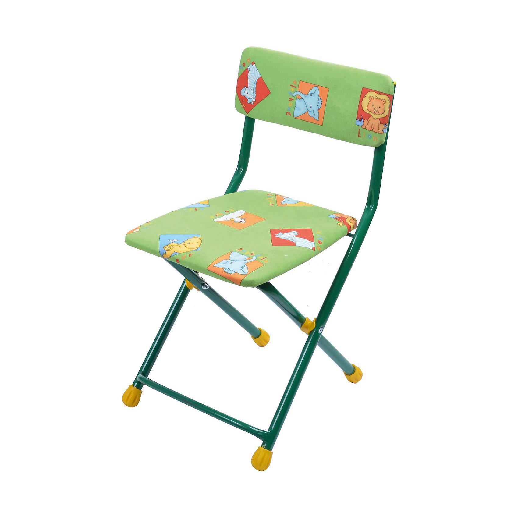 Складной стул с мягким сиденьем КУ1 Звери, Ника, зеленыйДетские столы и стулья<br>Характеристики товара:<br><br>• цвет: зеленый<br>• материал: металл, пластик, текстиль<br>• сиденье: 310х270 мм<br>• высота до сиденья: 320 мм<br>• высота со спинкой 570 мм<br>• на ножках пластмассовые наконечники<br>• складной<br>• на сиденье мягкая обивка из флока <br>• возраст: от 3 до 7 лет<br>• страна бренда: Российская Федерация<br>• страна производства: Российская Федерация<br><br>Детская мебель может быть удобной и эргономичной! Этот стул разработан специально для детей от трех до семи лет. Он легко складывается и раскладывается, занимает немного места. Сиденье обито мягким флоком, а на ножках стула установлены пластмассовые наконечники для защиты напольного покрытия. Отличное решение для игр, творчества и обучения!<br>Правильно подобранная мебель помогает ребенку расти здоровым, формироваться правильной осанке. Изделие производится из качественных сертифицированных материалов, безопасных даже для самых маленьких.<br><br>Складной стул с мягким сиденьем КУ1 Звери, зеленый от бренда Ника можно купить в нашем интернет-магазине.<br><br>Ширина мм: 700<br>Глубина мм: 160<br>Высота мм: 330<br>Вес г: 2520<br>Возраст от месяцев: 36<br>Возраст до месяцев: 84<br>Пол: Унисекс<br>Возраст: Детский<br>SKU: 5223593