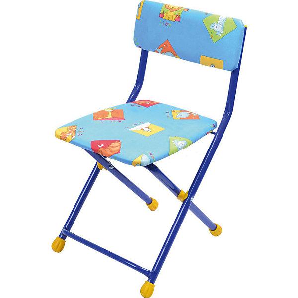 Складной стул с мягким сиденьем КУ1 Звери, Ника, синийДетские столы и стулья<br>Характеристики товара:<br><br>• цвет: синий<br>• материал: металл, пластик, текстиль<br>• сиденье: 310х270 мм<br>• высота до сиденья: 320 мм<br>• высота со спинкой 570 мм<br>• на ножках пластмассовые наконечники<br>• складной<br>• на сиденье мягкая обивка из флока <br>• возраст: от 3 до 7 лет<br>• страна бренда: Российская Федерация<br>• страна производства: Российская Федерация<br><br>Детская мебель может быть удобной и эргономичной! Этот стул разработан специально для детей от трех до семи лет. Он легко складывается и раскладывается, занимает немного места. Сиденье обито мягким флоком, а на ножках стула установлены пластмассовые наконечники для защиты напольного покрытия. Отличное решение для игр, творчества и обучения!<br>Правильно подобранная мебель помогает ребенку расти здоровым, формироваться правильной осанке. Изделие производится из качественных сертифицированных материалов, безопасных даже для самых маленьких.<br><br>Складной стул с мягким сиденьем КУ1 Звери, синий от бренда Ника можно купить в нашем интернет-магазине.<br><br>Ширина мм: 700<br>Глубина мм: 160<br>Высота мм: 330<br>Вес г: 2520<br>Возраст от месяцев: 36<br>Возраст до месяцев: 84<br>Пол: Унисекс<br>Возраст: Детский<br>SKU: 5223594