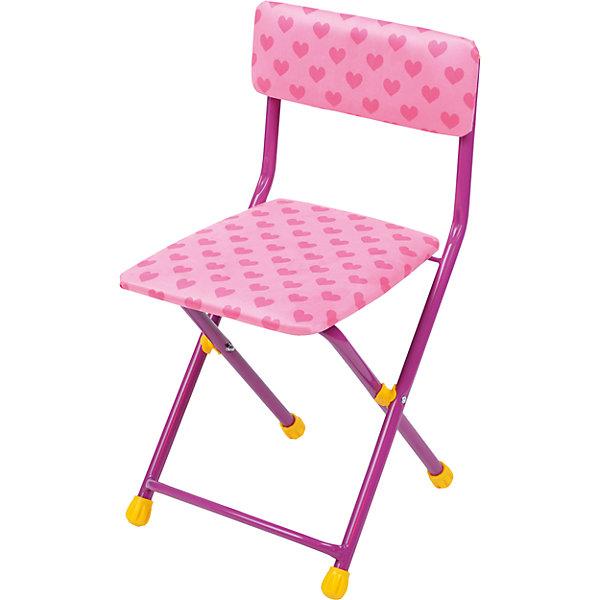 Складной стул с мягким сиденьем КУ1 Сердечки, Ника, розовыйДетские столы и стулья<br>Характеристики товара:<br><br>• цвет: розовый <br>• материал: металл, пластик, текстиль<br>• сиденье: 310х270 мм<br>• высота до сиденья: 320 мм<br>• высота со спинкой 570 мм<br>• на ножках пластмассовые наконечники<br>• складной<br>• на сиденье мягкая обивка из флока <br>• возраст: от 3 до 7 лет<br>• страна бренда: Российская Федерация<br>• страна производства: Российская Федерация<br><br>Детская мебель может быть удобной и эргономичной! Этот стул разработан специально для детей от трех до семи лет. Он легко складывается и раскладывается, занимает немного места. Сиденье обито мягким флоком, а на ножках стула установлены пластмассовые наконечники для защиты напольного покрытия. Отличное решение для игр, творчества и обучения!<br>Правильно подобранная мебель помогает ребенку расти здоровым, формироваться правильной осанке. Изделие производится из качественных сертифицированных материалов, безопасных даже для самых маленьких.<br><br>Складной стул с мягким сиденьем КУ1 Сердечки, розовый от бренда Ника можно купить в нашем интернет-магазине.<br><br>Ширина мм: 700<br>Глубина мм: 160<br>Высота мм: 330<br>Вес г: 2520<br>Возраст от месяцев: 36<br>Возраст до месяцев: 84<br>Пол: Женский<br>Возраст: Детский<br>SKU: 5223596