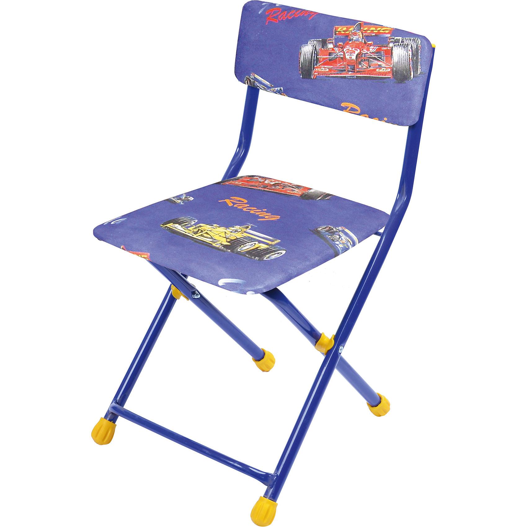 Складной стул с мягким сиденьем КУ1 Феррари, НикаМебель<br>Характеристики товара:<br><br>• материал: металл, пластик, текстиль<br>• сиденье: 310х270 мм<br>• высота до сиденья: 320 мм<br>• высота со спинкой 570 мм<br>• на ножках пластмассовые наконечники<br>• складной<br>• на сиденье мягкая обивка из флока <br>• возраст: от 3 до 7 лет<br>• страна бренда: Российская Федерация<br>• страна производства: Российская Федерация<br><br>Детская мебель может быть удобной и эргономичной! Этот стул разработан специально для детей от трех до семи лет. Он легко складывается и раскладывается, занимает немного места. Сиденье обито мягким флоком, а на ножках стула установлены пластмассовые наконечники для защиты напольного покрытия. Отличное решение для игр, творчества и обучения!<br>Правильно подобранная мебель помогает ребенку расти здоровым, формироваться правильной осанке. Изделие производится из качественных сертифицированных материалов, безопасных даже для самых маленьких.<br><br>Складной стул с мягким сиденьем КУ1 Феррари от бренда Ника можно купить в нашем интернет-магазине.<br><br>Ширина мм: 700<br>Глубина мм: 160<br>Высота мм: 330<br>Вес г: 2520<br>Возраст от месяцев: 36<br>Возраст до месяцев: 84<br>Пол: Мужской<br>Возраст: Детский<br>SKU: 5223597