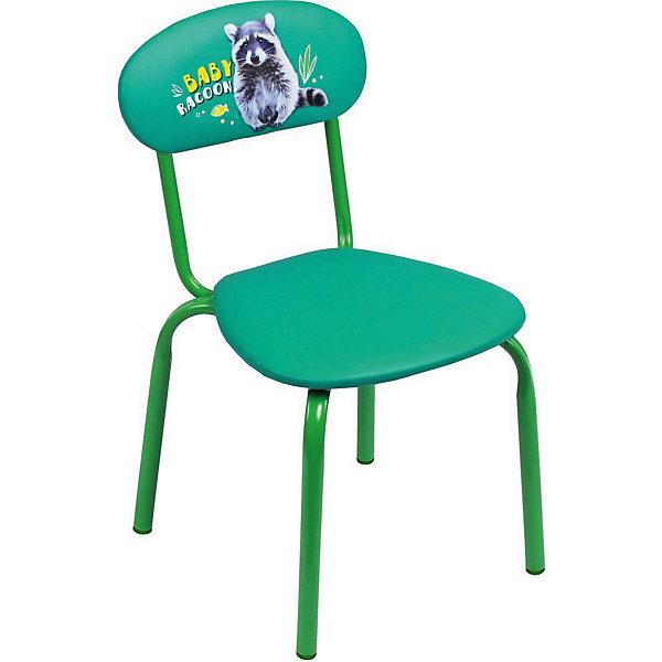 Стул СТУ5 . Малыш енот, Ника, изумрудДетские столы и стулья<br>Характеристики товара:<br><br>• цвет: изумруд <br>• материал: металл окрашенный, фанера, поролон, пластмасса, ткань (замша) или винилискожа<br>• мягкое сиденье и спинка<br>• яркая расцветка<br>• устойчивый<br>• на спинке рисунок<br>• возраст: от 1,5 до 3 лет<br>• страна бренда: Российская Федерация<br>• страна производства: Российская Федерация<br><br>Детская мебель может быть удобной и эргономичной! Этот стул разработан специально для детей от полутора до трех лет. Он устойчивый, занимает немного места. Сиденье обито мягким материалом, а на спинке стула - яркий рисунок, который понравится малышам. Отличное решение для игр, творчества и развивающих занятий!<br>Правильно подобранная мебель помогает ребенку расти здоровым, формироваться правильной осанке. Изделие производится из качественных сертифицированных материалов, безопасных даже для самых маленьких.<br><br>Стул Малыш енот, изумруд от бренда Ника можно купить в нашем интернет-магазине.<br>Ширина мм: 350; Глубина мм: 545; Высота мм: 320; Вес г: 1900; Возраст от месяцев: 180; Возраст до месяцев: 36; Пол: Унисекс; Возраст: Детский; SKU: 5223600;