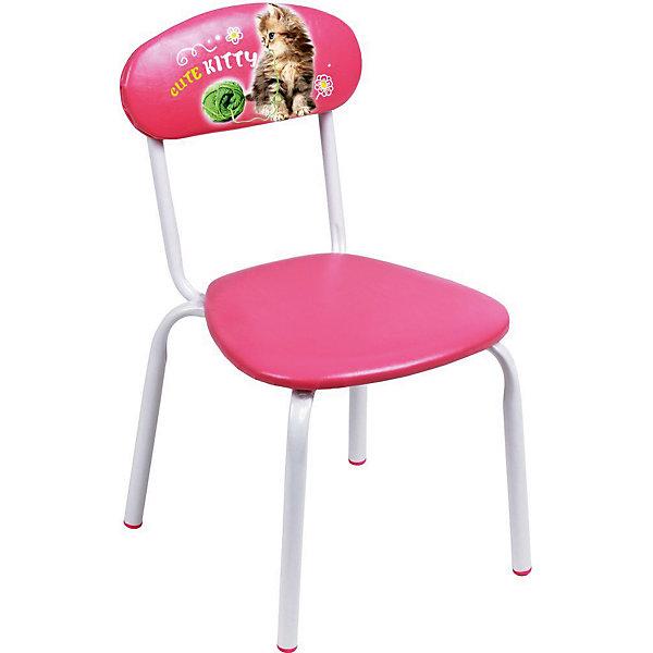 Стул СТУ5 . Милый котенок, Ника, розовыйДетские столы и стулья<br>Характеристики товара:<br><br>• цвет: розовый<br>• материал: металл окрашенный, фанера, поролон, пластмасса, ткань (замша) или винилискожа<br>• мягкое сиденье и спинка<br>• яркая расцветка<br>• устойчивый<br>• на спинке рисунок<br>• возраст: от 1,5 до 3 лет<br>• страна бренда: Российская Федерация<br>• страна производства: Российская Федерация<br><br>Детская мебель может быть удобной и эргономичной! Этот стул разработан специально для детей от полутора до трех лет. Он устойчивый, занимает немного места. Сиденье обито мягким материалом, а на спинке стула - яркий рисунок, который понравится малышам. Отличное решение для игр, творчества и развивающих занятий!<br>Правильно подобранная мебель помогает ребенку расти здоровым, формироваться правильной осанке. Изделие производится из качественных сертифицированных материалов, безопасных даже для самых маленьких.<br><br>Стул Милый котенок, розовый от бренда Ника можно купить в нашем интернет-магазине.<br><br>Ширина мм: 350<br>Глубина мм: 545<br>Высота мм: 320<br>Вес г: 1900<br>Возраст от месяцев: 180<br>Возраст до месяцев: 36<br>Пол: Женский<br>Возраст: Детский<br>SKU: 5223601