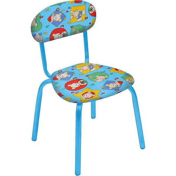 Стул СТУ5 . Мишки, Ника, голубойДетские столы и стулья<br>Характеристики товара:<br><br>• цвет: бирюзовый <br>• материал: металл окрашенный, фанера, поролон, пластмасса, ткань (замша) или винилискожа<br>• мягкое сиденье и спинка<br>• яркая расцветка<br>• устойчивый<br>• на обивке рисунок<br>• возраст: от 1,5 до 3 лет<br>• страна бренда: Российская Федерация<br>• страна производства: Российская Федерация<br><br>Детская мебель может быть удобной и эргономичной! Этот стул разработан специально для детей от полутора до трех лет. Он устойчивый, занимает немного места. Сиденье обито мягким материалом, а на обивке стула - яркий рисунок, который понравится малышам. Отличное решение для игр, творчества и развивающих занятий!<br>Правильно подобранная мебель помогает ребенку расти здоровым, формироваться правильной осанке. Изделие производится из качественных сертифицированных материалов, безопасных даже для самых маленьких.<br><br>Стул Мишки с замшевым сиденьем от бренда Ника можно купить в нашем интернет-магазине.<br><br>Ширина мм: 350<br>Глубина мм: 545<br>Высота мм: 320<br>Вес г: 1900<br>Возраст от месяцев: 180<br>Возраст до месяцев: 36<br>Пол: Унисекс<br>Возраст: Детский<br>SKU: 5223602