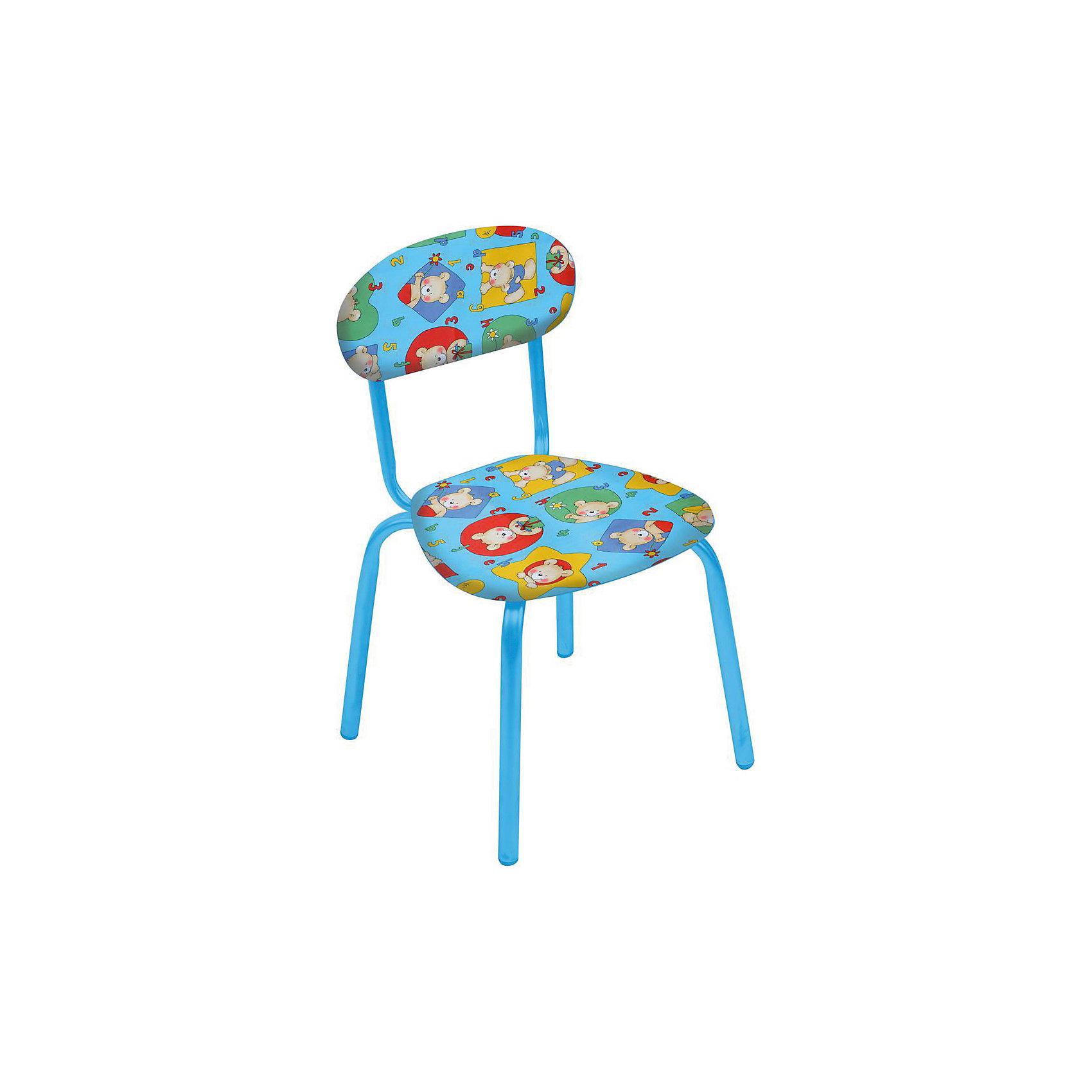 Стул СТУ5 . Мишки, Ника, голубойСтолы и стулья<br>Характеристики товара:<br><br>• цвет: бирюзовый <br>• материал: металл окрашенный, фанера, поролон, пластмасса, ткань (замша) или винилискожа<br>• мягкое сиденье и спинка<br>• яркая расцветка<br>• устойчивый<br>• на обивке рисунок<br>• возраст: от 1,5 до 3 лет<br>• страна бренда: Российская Федерация<br>• страна производства: Российская Федерация<br><br>Детская мебель может быть удобной и эргономичной! Этот стул разработан специально для детей от полутора до трех лет. Он устойчивый, занимает немного места. Сиденье обито мягким материалом, а на обивке стула - яркий рисунок, который понравится малышам. Отличное решение для игр, творчества и развивающих занятий!<br>Правильно подобранная мебель помогает ребенку расти здоровым, формироваться правильной осанке. Изделие производится из качественных сертифицированных материалов, безопасных даже для самых маленьких.<br><br>Стул Мишки с замшевым сиденьем от бренда Ника можно купить в нашем интернет-магазине.<br><br>Ширина мм: 350<br>Глубина мм: 545<br>Высота мм: 320<br>Вес г: 1900<br>Возраст от месяцев: 180<br>Возраст до месяцев: 36<br>Пол: Унисекс<br>Возраст: Детский<br>SKU: 5223602