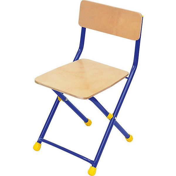 Складной стул СТФ1. Универсал, Ника, синийДетские столы и стулья<br>Характеристики товара:<br><br>• цвет: синий<br>• материал: металл, пластик, фанера<br>• сиденье: 300х300 мм<br>• высота до сиденья: 340 мм<br>• высота со спинкой 590 мм<br>• на ножках пластмассовые наконечники<br>• складной<br>• упаковка: термопленка<br>• возраст: от 3 до 7 лет<br>• страна бренда: Российская Федерация<br>• страна производства: Российская Федерация<br><br>Детская мебель может быть удобной и эргономичной! Этот стул разработан специально для детей от трех до семи лет. Он легко складывается и раскладывается, занимает немного места. Каркас сделан из прочного, но легкого металла, а на ножках стула установлены пластмассовые наконечники для защиты напольного покрытия. Отличное решение для игр, творчества и обучения!<br>Правильно подобранная мебель помогает ребенку расти здоровым, формироваться правильной осанке. Изделие производится из качественных сертифицированных материалов, безопасных даже для самых маленьких.<br><br>Складной стул Универсал (фанера), синий от бренда Ника можно купить в нашем интернет-магазине.<br><br>Ширина мм: 700<br>Глубина мм: 140<br>Высота мм: 330<br>Вес г: 2200<br>Возраст от месяцев: 36<br>Возраст до месяцев: 84<br>Пол: Унисекс<br>Возраст: Детский<br>SKU: 5223604