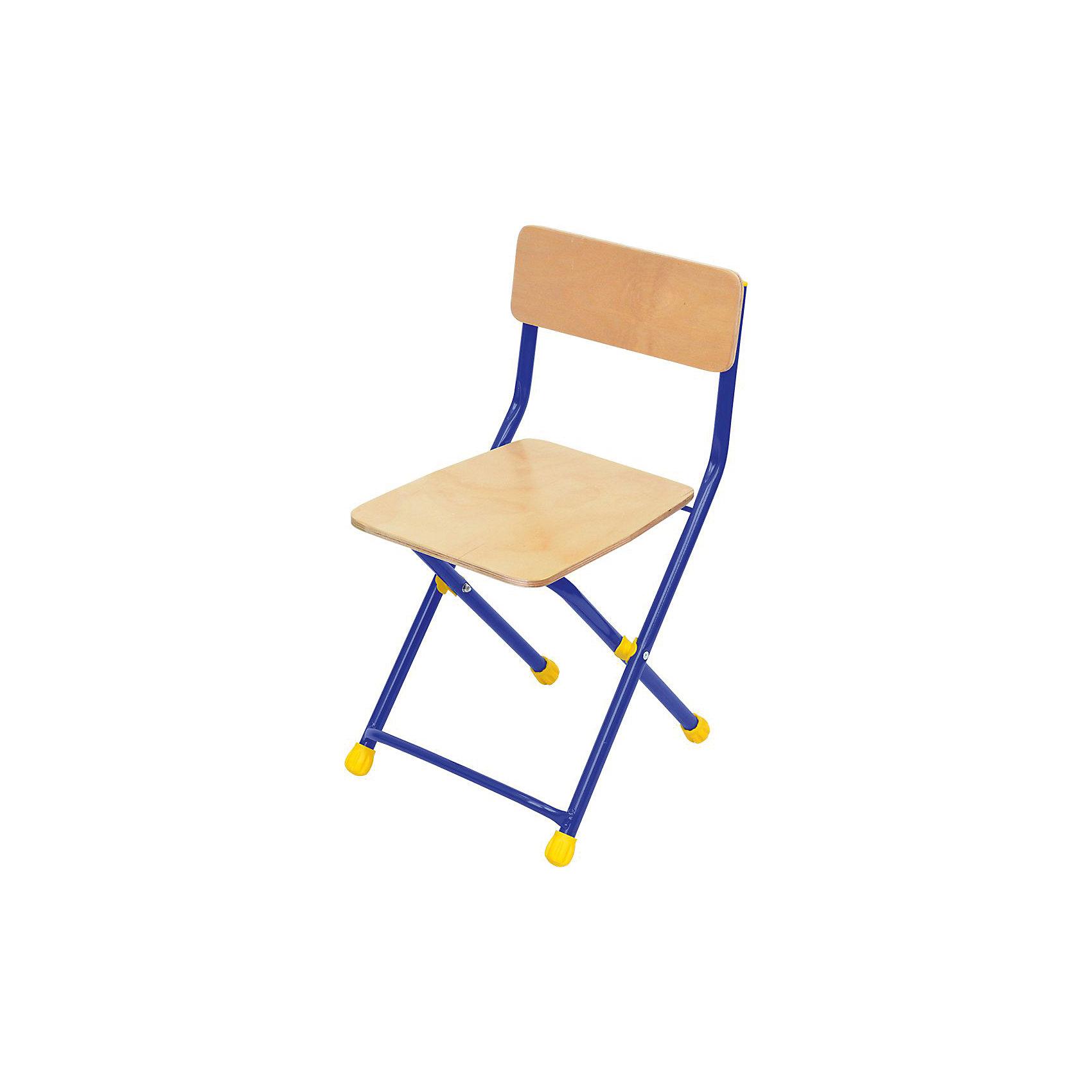 Складной стул СТФ1. Универсал, Ника, синийМебель<br>Характеристики товара:<br><br>• цвет: синий<br>• материал: металл, пластик, фанера<br>• сиденье: 300х300 мм<br>• высота до сиденья: 340 мм<br>• высота со спинкой 590 мм<br>• на ножках пластмассовые наконечники<br>• складной<br>• упаковка: термопленка<br>• возраст: от 3 до 7 лет<br>• страна бренда: Российская Федерация<br>• страна производства: Российская Федерация<br><br>Детская мебель может быть удобной и эргономичной! Этот стул разработан специально для детей от трех до семи лет. Он легко складывается и раскладывается, занимает немного места. Каркас сделан из прочного, но легкого металла, а на ножках стула установлены пластмассовые наконечники для защиты напольного покрытия. Отличное решение для игр, творчества и обучения!<br>Правильно подобранная мебель помогает ребенку расти здоровым, формироваться правильной осанке. Изделие производится из качественных сертифицированных материалов, безопасных даже для самых маленьких.<br><br>Складной стул Универсал (фанера), синий от бренда Ника можно купить в нашем интернет-магазине.<br><br>Ширина мм: 700<br>Глубина мм: 140<br>Высота мм: 330<br>Вес г: 2200<br>Возраст от месяцев: 36<br>Возраст до месяцев: 84<br>Пол: Унисекс<br>Возраст: Детский<br>SKU: 5223604