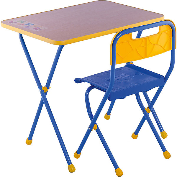 Набор мебели КА1, Алина, Ника, букДетские столы и стулья<br>Характеристики товара:<br><br>• цвет: бук<br>• материал: металл, пластик, фанера<br>• размер столешницы: 60х45 см<br>• высота стола: 58 см<br>• сиденье: 26х29 см<br>• высота до сиденья: 35 см<br>• высота со спинкой 61 см<br>• размер упаковки: 75х15х61 см<br>• вес в упаковке: 6,5 кг<br>• складной<br>• на столешнице - рисунок<br>• на ламинированной поверхности стола можно рисовать маркером на водной основе<br>• на ножках пластмассовые наконечники<br>• складной<br>• возраст: от 3 до 7 лет<br>• страна бренда: Российская Федерация<br>• страна производства: Российская Федерация<br><br>Детская мебель может быть удобной и эргономичной! Этот комплект разработан специально для детей от трех до семи лет. Он легко складывается и раскладывается, занимает немного места. Каркас сделан из прочного, но легкого металла, а на ножках установлены пластмассовые наконечники для защиты напольного покрытия. Отличное решение как для кормления малыша, так и для игр, творчества и обучения!<br>Правильно подобранная мебель помогает ребенку расти здоровым, формироваться правильной осанке. Изделие производится из качественных сертифицированных материалов, безопасных даже для самых маленьких.<br><br>Набор мебели Алина, бук от бренда Ника можно купить в нашем интернет-магазине.<br>Ширина мм: 750; Глубина мм: 155; Высота мм: 610; Вес г: 6650; Возраст от месяцев: 36; Возраст до месяцев: 84; Пол: Унисекс; Возраст: Детский; SKU: 5223607;