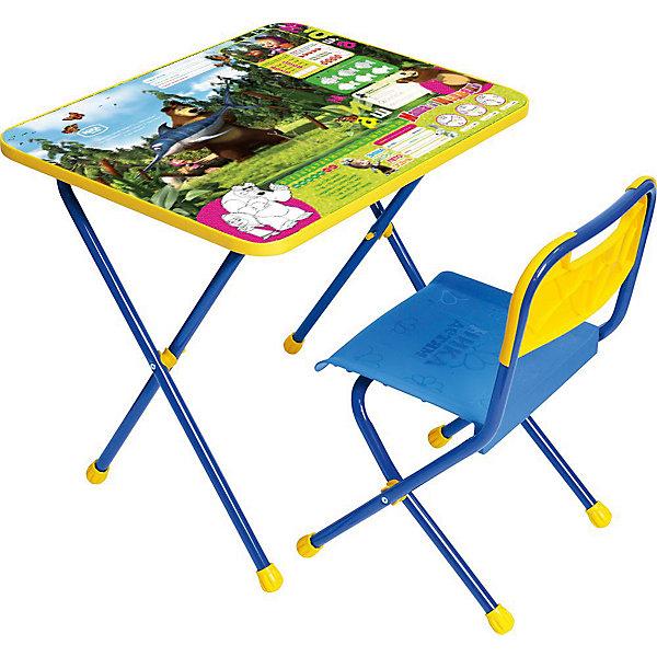 Набор мебели Познайка КП/5, Маша и Медведь. Ловись рыбка, НикаДетские столы и стулья<br>Характеристики товара:<br><br>• материал: металл, пластик<br>• размер столешницы: 60х45 см<br>• высота стола: 52 см<br>• сиденье: 26х29 см<br>• высота до сиденья: 30 см<br>• высота со спинкой 55 см<br>• размер упаковки: 75х15х61 см<br>• вес в упаковке: 7,5 кг<br>• складной<br>• на столешнице - полезные рисунки<br>• на ламинированной поверхности стола можно рисовать маркером на водной основе<br>• на ножках пластмассовые наконечники<br>• складной<br>• возраст: от 1,5 до 3 лет<br>• страна бренда: Российская Федерация<br>• страна производства: Российская Федерация<br><br>Детская мебель может быть удобной и эргономичной! Этот комплект разработан специально для детей от полутора до трех лет. Он легко складывается и раскладывается, занимает немного места, легко моется. Каркас сделан из прочного, но легкого металла, а на ножках установлены пластмассовые наконечники для защиты напольного покрытия. Столешница украшена полезными познавательными рисунками. Отличное решение как для кормления малыша, так и для игр, творчества и развивающих занятий!<br>Правильно подобранная мебель помогает ребенку расти здоровым, формироваться правильной осанке. Изделие производится из качественных сертифицированных материалов, безопасных даже для самых маленьких.<br><br>Набор мебели Познайка, Маша и Медведь. Ловись рыбка от бренда Ника можно купить в нашем интернет-магазине.<br><br>Ширина мм: 750<br>Глубина мм: 155<br>Высота мм: 610<br>Вес г: 7650<br>Возраст от месяцев: 180<br>Возраст до месяцев: 36<br>Пол: Унисекс<br>Возраст: Детский<br>SKU: 5223610