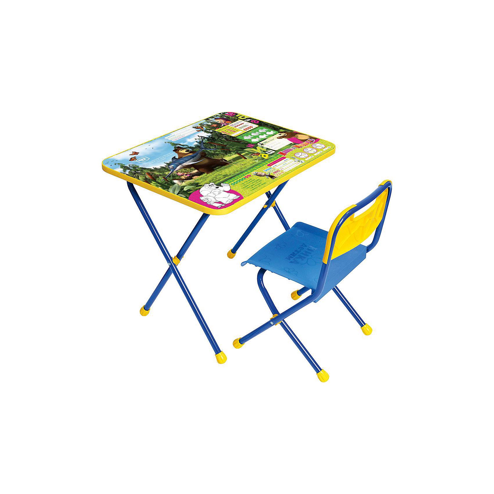 Набор мебели Познайка КП/5, Маша и Медведь. Ловись рыбка, НикаСтолы и стулья<br>Характеристики товара:<br><br>• материал: металл, пластик<br>• размер столешницы: 60х45 см<br>• высота стола: 52 см<br>• сиденье: 26х29 см<br>• высота до сиденья: 30 см<br>• высота со спинкой 55 см<br>• размер упаковки: 75х15х61 см<br>• вес в упаковке: 7,5 кг<br>• складной<br>• на столешнице - полезные рисунки<br>• на ламинированной поверхности стола можно рисовать маркером на водной основе<br>• на ножках пластмассовые наконечники<br>• складной<br>• возраст: от 1,5 до 3 лет<br>• страна бренда: Российская Федерация<br>• страна производства: Российская Федерация<br><br>Детская мебель может быть удобной и эргономичной! Этот комплект разработан специально для детей от полутора до трех лет. Он легко складывается и раскладывается, занимает немного места, легко моется. Каркас сделан из прочного, но легкого металла, а на ножках установлены пластмассовые наконечники для защиты напольного покрытия. Столешница украшена полезными познавательными рисунками. Отличное решение как для кормления малыша, так и для игр, творчества и развивающих занятий!<br>Правильно подобранная мебель помогает ребенку расти здоровым, формироваться правильной осанке. Изделие производится из качественных сертифицированных материалов, безопасных даже для самых маленьких.<br><br>Набор мебели Познайка, Маша и Медведь. Ловись рыбка от бренда Ника можно купить в нашем интернет-магазине.<br><br>Ширина мм: 750<br>Глубина мм: 155<br>Высота мм: 610<br>Вес г: 7650<br>Возраст от месяцев: 180<br>Возраст до месяцев: 36<br>Пол: Унисекс<br>Возраст: Детский<br>SKU: 5223610