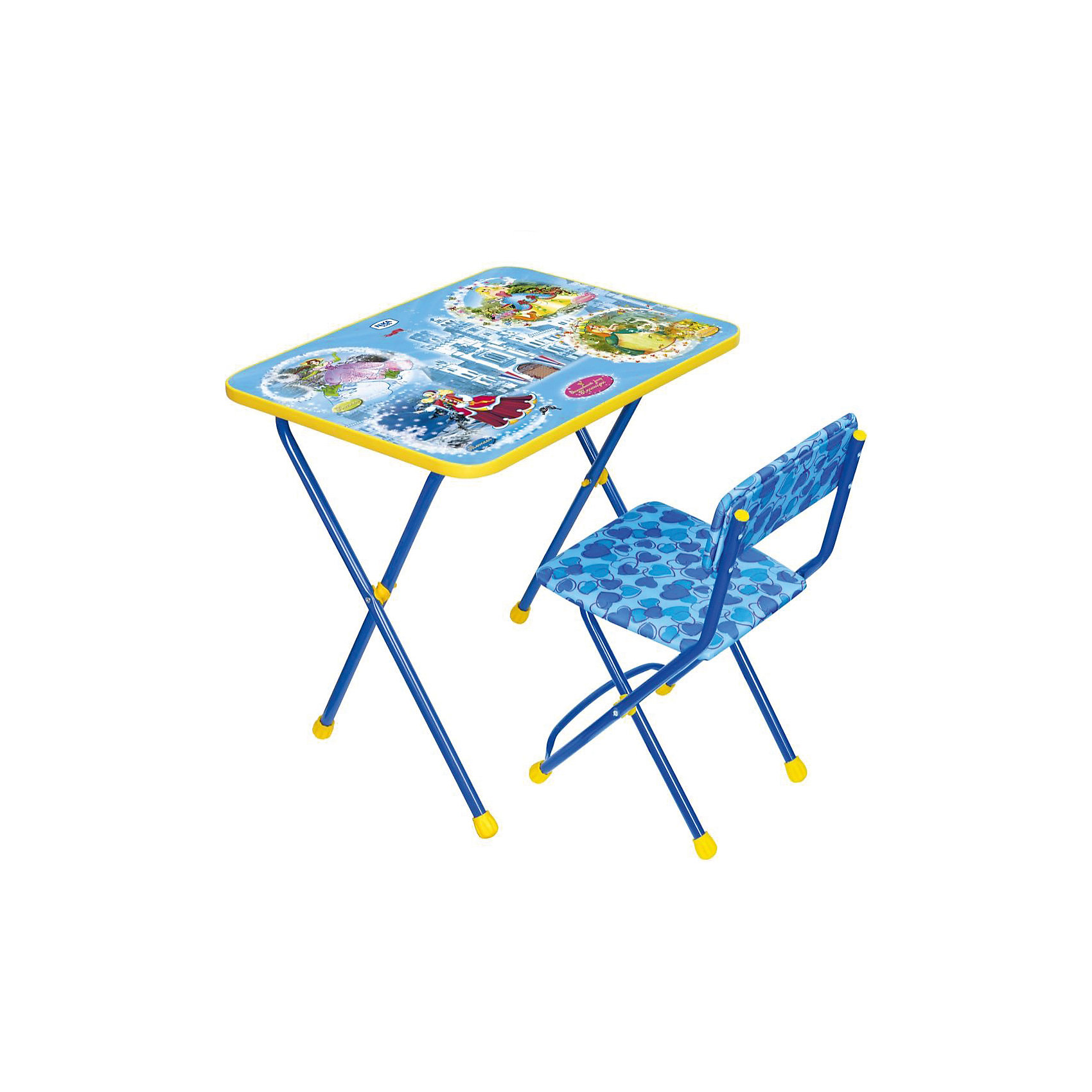 Набор мебели Познайка КП2/16 Волшебный мир, НикаСтолы и стулья<br>Характеристики товара:<br><br>• материал: металл, пластик, текстиль<br>• размер столешницы: 60х45 см<br>• высота стола: 58 см<br>• сиденье: 31х27 см<br>• высота до сиденья: 32 см<br>• высота со спинкой 57 см<br>• подставка для ног<br>• стул с мягким сиденьем (флок)<br>• пенал<br>• складной<br>• на столешнице - полезные рисунки<br>• на ламинированной поверхности стола можно рисовать маркером на водной основе<br>• на ножках пластмассовые наконечники<br>• складной<br>• возраст: от 3 до 7 лет<br>• страна бренда: Российская Федерация<br>• страна производства: Российская Федерация<br><br>Детская мебель может быть удобной и эргономичной! Этот комплект разработан специально для детей от трех до семи лет. Он легко складывается и раскладывается, занимает немного места, легко моется. Каркас сделан из прочного, но легкого металла, а на ножках установлены пластмассовые наконечники для защиты напольного покрытия. Столешница украшена полезными познавательными рисунками. Отличное решение как для кормления малыша, так и для игр, творчества и обучения!<br>Правильно подобранная мебель помогает ребенку расти здоровым, формироваться правильной осанке. Изделие производится из качественных сертифицированных материалов, безопасных даже для самых маленьких.<br><br>Набор мебели Познайка КП2/16 Волшебный мир от бренда Ника можно купить в нашем интернет-магазине.<br><br>Ширина мм: 750<br>Глубина мм: 155<br>Высота мм: 610<br>Вес г: 8080<br>Возраст от месяцев: 36<br>Возраст до месяцев: 84<br>Пол: Унисекс<br>Возраст: Детский<br>SKU: 5223617
