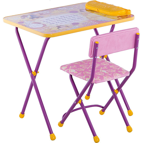 Набор мебели Никки КУ2/10 Познаю мир, НикаДетские столы и стулья<br>Характеристики товара:<br><br>• материал: металл, пластик, текстиль<br>• размер столешницы: 60х45 см<br>• высота стола: 58 см<br>• сиденье: 31х27 см<br>• высота до сиденья: 35 см<br>• высота со спинкой 61 см<br>• подставка для ног<br>• стул с мягким сиденьем (флок)<br>• пенал<br>• складной<br>• на столешнице - полезные рисунки<br>• на ламинированной поверхности стола можно рисовать маркером на водной основе<br>• на ножках пластмассовые наконечники<br>• складной<br>• возраст: от 3 до 7 лет<br>• страна бренда: Российская Федерация<br>• страна производства: Российская Федерация<br><br>Детская мебель может быть удобной и эргономичной! Этот комплект разработан специально для детей от трех до семи лет. Он легко складывается и раскладывается, занимает немного места, легко моется. Каркас сделан из прочного, но легкого металла, а на ножках установлены пластмассовые наконечники для защиты напольного покрытия. Столешница украшена полезными познавательными рисунками. Отличное решение как для кормления малыша, так и для игр, творчества и обучения!<br>Правильно подобранная мебель помогает ребенку расти здоровым, формироваться правильной осанке. Изделие производится из качественных сертифицированных материалов, безопасных даже для самых маленьких.<br><br>Набор мебели Никки КУ2/10 Познаю мир от бренда Ника можно купить в нашем интернет-магазине.<br>Ширина мм: 750; Глубина мм: 155; Высота мм: 610; Вес г: 8080; Возраст от месяцев: 36; Возраст до месяцев: 84; Пол: Унисекс; Возраст: Детский; SKU: 5223623;