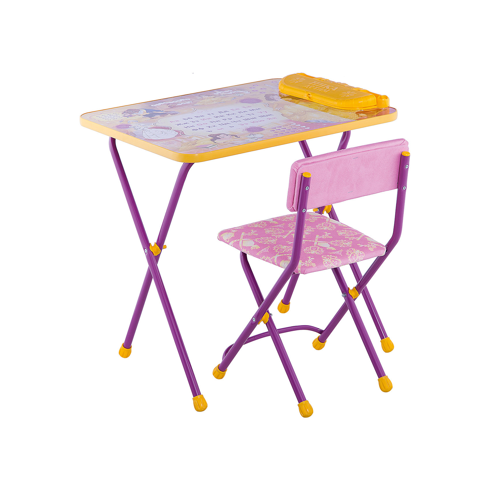 Набор мебели Никки КУ2/10 Познаю мир, НикаМебель<br>Характеристики товара:<br><br>• материал: металл, пластик, текстиль<br>• размер столешницы: 60х45 см<br>• высота стола: 58 см<br>• сиденье: 31х27 см<br>• высота до сиденья: 35 см<br>• высота со спинкой 61 см<br>• подставка для ног<br>• стул с мягким сиденьем (флок)<br>• пенал<br>• складной<br>• на столешнице - полезные рисунки<br>• на ламинированной поверхности стола можно рисовать маркером на водной основе<br>• на ножках пластмассовые наконечники<br>• складной<br>• возраст: от 3 до 7 лет<br>• страна бренда: Российская Федерация<br>• страна производства: Российская Федерация<br><br>Детская мебель может быть удобной и эргономичной! Этот комплект разработан специально для детей от трех до семи лет. Он легко складывается и раскладывается, занимает немного места, легко моется. Каркас сделан из прочного, но легкого металла, а на ножках установлены пластмассовые наконечники для защиты напольного покрытия. Столешница украшена полезными познавательными рисунками. Отличное решение как для кормления малыша, так и для игр, творчества и обучения!<br>Правильно подобранная мебель помогает ребенку расти здоровым, формироваться правильной осанке. Изделие производится из качественных сертифицированных материалов, безопасных даже для самых маленьких.<br><br>Набор мебели Никки КУ2/10 Познаю мир от бренда Ника можно купить в нашем интернет-магазине.<br><br>Ширина мм: 750<br>Глубина мм: 155<br>Высота мм: 610<br>Вес г: 8080<br>Возраст от месяцев: 36<br>Возраст до месяцев: 84<br>Пол: Унисекс<br>Возраст: Детский<br>SKU: 5223623
