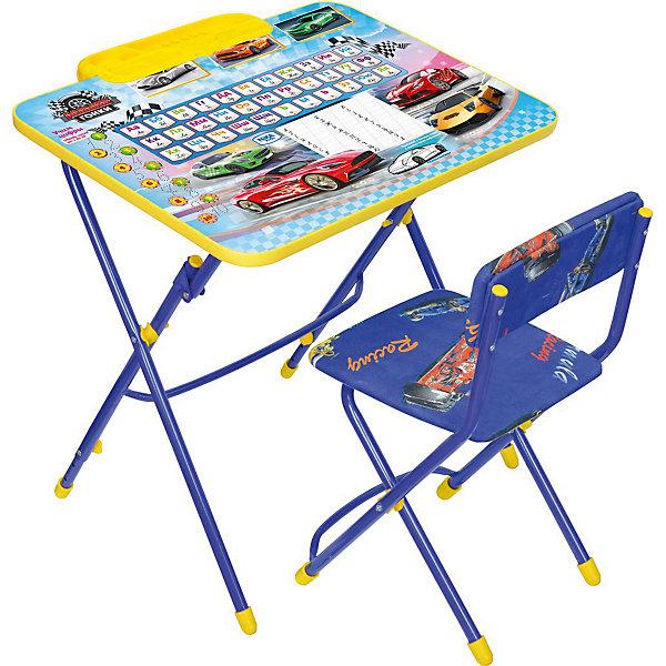 Набор мебели Никки КУ3/15Большие гонки, НикаДетские столы и стулья<br>Характеристики товара:<br><br>• материал: металл, пластик, текстиль<br>• размер столешницы: 60х45 см<br>• высота стола: 58 см<br>• сиденье: 31х27 см<br>• высота до сиденья: 32 см<br>• высота со спинкой 57 см<br>• подставка для ног<br>• стул с мягким сиденьем (флок)<br>• пенал<br>• складной<br>• на столешнице - полезные рисунки<br>• на ламинированной поверхности стола можно рисовать маркером на водной основе<br>• на ножках пластмассовые наконечники<br>• складной<br>• возраст: от 3 до 7 лет<br>• страна бренда: Российская Федерация<br>• страна производства: Российская Федерация<br><br>Детская мебель может быть удобной и эргономичной! Этот комплект разработан специально для детей от трех до семи лет. Он легко складывается и раскладывается, занимает немного места, легко моется. Каркас сделан из прочного, но легкого металла, а на ножках установлены пластмассовые наконечники для защиты напольного покрытия. Столешница украшена полезными познавательными рисунками. Отличное решение как для кормления малыша, так и для игр, творчества и обучения!<br>Правильно подобранная мебель помогает ребенку расти здоровым, формироваться правильной осанке. Изделие производится из качественных сертифицированных материалов, безопасных даже для самых маленьких.<br><br>Набор мебели Никки КУ3/15 Большие гонки от бренда Ника можно купить в нашем интернет-магазине.<br><br>Ширина мм: 750<br>Глубина мм: 155<br>Высота мм: 610<br>Вес г: 8140<br>Возраст от месяцев: 36<br>Возраст до месяцев: 84<br>Пол: Мужской<br>Возраст: Детский<br>SKU: 5223624