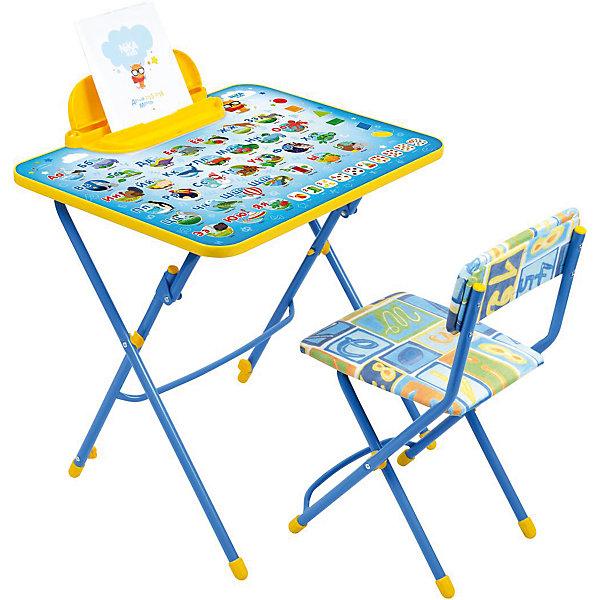 Набор мебели Никки КУ3/9 Азбука, НикаДетские столы и стулья<br>Характеристики товара:<br><br>• материал: металл, пластик, текстиль<br>• размер столешницы: 60х45 см<br>• высота стола: 58 см<br>• сиденье: 31х27 см<br>• высота до сиденья: 32 см<br>• высота со спинкой 57 см<br>• подставка для ног<br>• стул с мягким сиденьем (флок)<br>• пенал<br>• складной<br>• на столешнице - полезные рисунки<br>• на ламинированной поверхности стола можно рисовать маркером на водной основе<br>• на ножках пластмассовые наконечники<br>• складной<br>• возраст: от 3 до 7 лет<br>• страна бренда: Российская Федерация<br>• страна производства: Российская Федерация<br><br>Детская мебель может быть удобной и эргономичной! Этот комплект разработан специально для детей от трех до семи лет. Он легко складывается и раскладывается, занимает немного места, легко моется. Каркас сделан из прочного, но легкого металла, а на ножках установлены пластмассовые наконечники для защиты напольного покрытия. Столешница украшена полезными познавательными рисунками. Отличное решение как для кормления малыша, так и для игр, творчества и обучения!<br>Правильно подобранная мебель помогает ребенку расти здоровым, формироваться правильной осанке. Изделие производится из качественных сертифицированных материалов, безопасных даже для самых маленьких.<br><br>Набор мебели Никки КУ3/9 Азбука от бренда Ника можно купить в нашем интернет-магазине.<br>Ширина мм: 750; Глубина мм: 155; Высота мм: 610; Вес г: 8140; Возраст от месяцев: 36; Возраст до месяцев: 84; Пол: Унисекс; Возраст: Детский; SKU: 5223625;