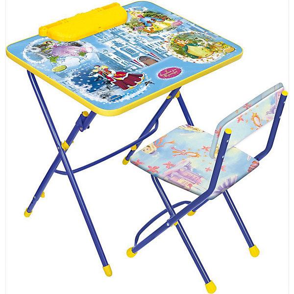 Набор мебели Никки КУ3/16 Волшебный мир, НикаДетские столы и стулья<br>Характеристики товара:<br><br>• материал: металл, пластик, текстиль<br>• размер столешницы: 60х45 см<br>• высота стола: 58 см<br>• сиденье: 31х27 см<br>• высота до сиденья: 32 см<br>• высота со спинкой 57 см<br>• подставка для ног<br>• стул с мягким сиденьем (флок)<br>• пенал<br>• складной<br>• на столешнице - полезные рисунки<br>• на ламинированной поверхности стола можно рисовать маркером на водной основе<br>• на ножках пластмассовые наконечники<br>• складной<br>• возраст: от 3 до 7 лет<br>• страна бренда: Российская Федерация<br>• страна производства: Российская Федерация<br><br>Детская мебель может быть удобной и эргономичной! Этот комплект разработан специально для детей от трех до семи лет. Он легко складывается и раскладывается, занимает немного места, легко моется. Каркас сделан из прочного, но легкого металла, а на ножках установлены пластмассовые наконечники для защиты напольного покрытия. Столешница украшена полезными познавательными рисунками. Отличное решение как для кормления малыша, так и для игр, творчества и обучения!<br>Правильно подобранная мебель помогает ребенку расти здоровым, формироваться правильной осанке. Изделие производится из качественных сертифицированных материалов, безопасных даже для самых маленьких.<br><br>Набор мебели Никки КУ3/16 Волшебный мир от бренда Ника можно купить в нашем интернет-магазине.<br><br>Ширина мм: 750<br>Глубина мм: 155<br>Высота мм: 610<br>Вес г: 8140<br>Возраст от месяцев: 36<br>Возраст до месяцев: 84<br>Пол: Унисекс<br>Возраст: Детский<br>SKU: 5223628