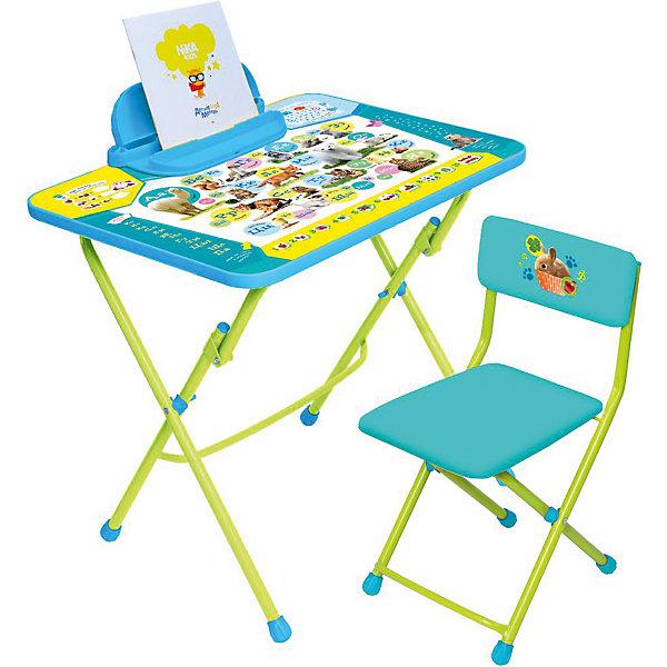 Набор мебели КУ2/ПА. Пушистая азбука, НикаДетские столы и стулья<br>Характеристики товара:<br><br>• материал: металл, пластик<br>• размер столешницы: 60х45 см<br>• высота стола: 58 см<br>• сиденье: 31х27 см<br>• высота до сиденья: 32 см<br>• высота со спинкой 57 см<br>• подставка для ног<br>• пенал<br>• складной<br>• на столешнице - полезные рисунки<br>• на ламинированной поверхности стола можно рисовать маркером на водной основе<br>• на ножках пластмассовые наконечники<br>• складной<br>• возраст: от 3 до 7 лет<br>• страна бренда: Российская Федерация<br>• страна производства: Российская Федерация<br><br>Детская мебель может быть удобной и эргономичной! Этот комплект разработан специально для детей от трех до семи лет. Он легко складывается и раскладывается, занимает немного места, легко моется. Каркас сделан из прочного, но легкого металла, а на ножках установлены пластмассовые наконечники для защиты напольного покрытия. Столешница украшена полезными познавательными рисунками. Отличное решение как для кормления малыша, так и для игр, творчества и обучения!<br>Правильно подобранная мебель помогает ребенку расти здоровым, формироваться правильной осанке. Изделие производится из качественных сертифицированных материалов, безопасных даже для самых маленьких.<br><br>Набор мебели Пушистая азбука от бренда Ника можно купить в нашем интернет-магазине.<br>Ширина мм: 750; Глубина мм: 155; Высота мм: 610; Вес г: 8080; Возраст от месяцев: 36; Возраст до месяцев: 84; Пол: Унисекс; Возраст: Детский; SKU: 5223630;