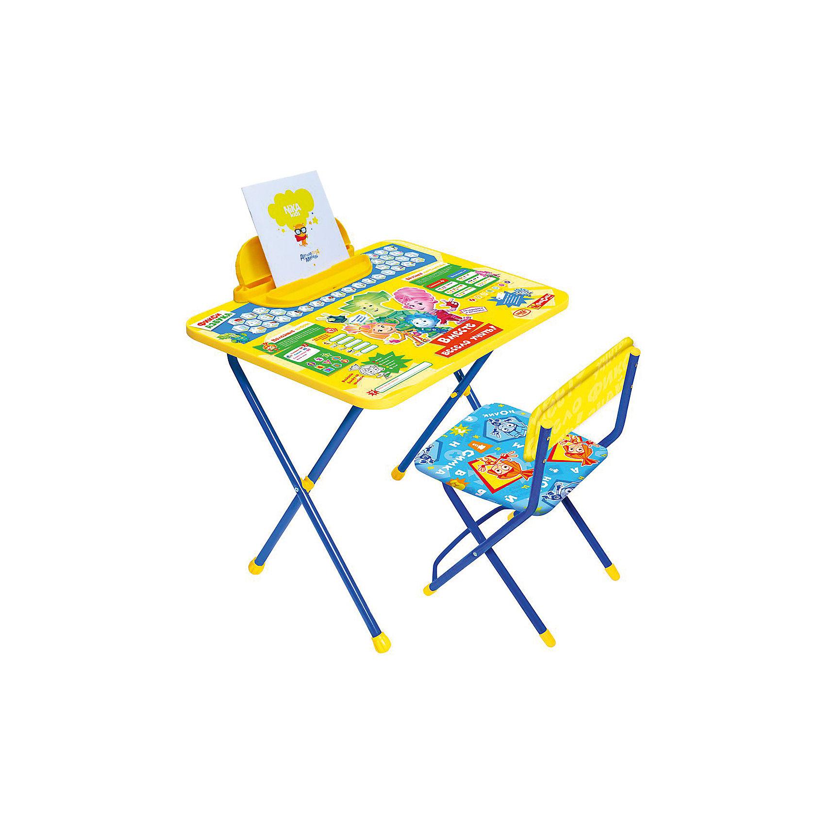 Набор мебели Ф1А . Фикси Азбука, НикаМебель<br>Характеристики товара:<br><br>• материал: металл, пластик<br>• размер столешницы: 60х45 см<br>• высота стола: 58 см<br>• сиденье: 31х27 см<br>• высота до сиденья: 30 см<br>• высота со спинкой 53 см<br>• пенал<br>• складной<br>• на столешнице - полезные рисунки<br>• на ламинированной поверхности стола можно рисовать маркером на водной основе<br>• на ножках пластмассовые наконечники<br>• складной<br>• возраст: от 1,5 до 3 лет<br>• страна бренда: Российская Федерация<br>• страна производства: Российская Федерация<br><br>Детская мебель может быть удобной и эргономичной! Этот комплект разработан специально для детей от полутора до трех лет. Он легко складывается и раскладывается, занимает немного места, легко моется. Каркас сделан из прочного, но легкого металла, а на ножках установлены пластмассовые наконечники для защиты напольного покрытия. Столешница украшена полезными познавательными рисунками. Отличное решение как для кормления малыша, так и для игр, творчества и развивающих занятий!<br>Правильно подобранная мебель помогает ребенку расти здоровым, формироваться правильной осанке. Изделие производится из качественных сертифицированных материалов, безопасных даже для самых маленьких.<br><br>Набор мебели Фикси Азбука от бренда Ника можно купить в нашем интернет-магазине.<br><br>Ширина мм: 750<br>Глубина мм: 155<br>Высота мм: 610<br>Вес г: 7020<br>Возраст от месяцев: 180<br>Возраст до месяцев: 36<br>Пол: Унисекс<br>Возраст: Детский<br>SKU: 5223631