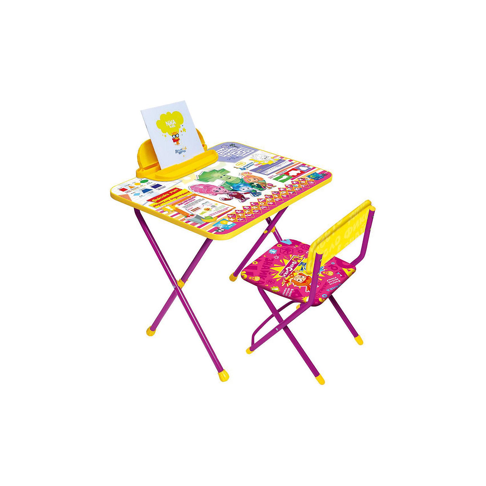 Набор мебели Ф1З. Фикси Знайка, НикаСтолы и стулья<br>Характеристики товара:<br><br>• материал: металл, пластик<br>• размер столешницы: 60х45 см<br>• высота стола: 52 см<br>• сиденье: 30х28 см<br>• высота до сиденья: 30 см<br>• высота со спинкой 53 см<br>• пенал<br>• складной<br>• на столешнице - полезные рисунки<br>• на ламинированной поверхности стола можно рисовать маркером на водной основе<br>• на ножках пластмассовые наконечники<br>• складной<br>• возраст: от 1,5 до 3 лет<br>• страна бренда: Российская Федерация<br>• страна производства: Российская Федерация<br><br>Детская мебель может быть удобной и эргономичной! Этот комплект разработан специально для детей от полутора до трех лет. Он легко складывается и раскладывается, занимает немного места, легко моется. Каркас сделан из прочного, но легкого металла, а на ножках установлены пластмассовые наконечники для защиты напольного покрытия. Столешница украшена полезными познавательными рисунками. Отличное решение как для кормления малыша, так и для игр, творчества и развивающих занятий!<br>Правильно подобранная мебель помогает ребенку расти здоровым, формироваться правильной осанке. Изделие производится из качественных сертифицированных материалов, безопасных даже для самых маленьких.<br><br>Набор мебели Фикси Знайка от бренда Ника можно купить в нашем интернет-магазине.<br><br>Ширина мм: 750<br>Глубина мм: 155<br>Высота мм: 610<br>Вес г: 7020<br>Возраст от месяцев: 180<br>Возраст до месяцев: 36<br>Пол: Унисекс<br>Возраст: Детский<br>SKU: 5223632