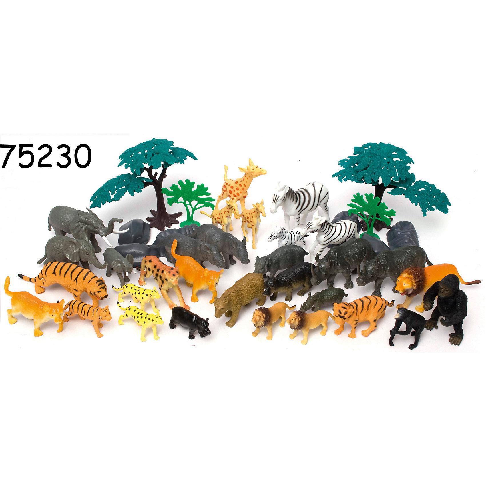 Игровой набор Сафари, 40 предметов, BoleyМир животных<br>Характеристики товара:<br><br>• размер: 15х15х21 см<br>• комплектация: 40 фигурок<br>• материал: пластик<br>• вес: 700 г<br>• страна бренда: США<br>• страна производства: Китай<br><br>Игровой набор из двадцати фигурок разных животных - отличный подарок для ребенка! Дети, как правило, очень любят животных. Чтобы ребенок мог безопасно и весело играть - вручите ему такие фигурки. Они отлично детализированы и помогут малышам начать изучать животный мир.<br>Такая игра помогает ребенку нарабатывать новые знания, навыки и способности - развивает мелкую моторику, а также активизирует процессы мышления. Изделие производится из качественных сертифицированных материалов, безопасных даже для самых маленьких.<br><br>Игровой набор Сафари, 40 предметов, от бренда Boley можно купить в нашем интернет-магазине.<br><br>Ширина мм: 150<br>Глубина мм: 210<br>Высота мм: 150<br>Вес г: 698<br>Возраст от месяцев: 36<br>Возраст до месяцев: 2147483647<br>Пол: Унисекс<br>Возраст: Детский<br>SKU: 5224453