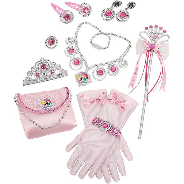 Игровой набор из 12 предметов, BoleyКарнавальные костюмы для девочек<br>Характеристики товара:<br><br>• цвет: розовый<br>• размер: 43х32х4 см<br>• комплектация: атласные перчатки, сумочка, волшебная палочка, диадема, кольцо, серьги, заколки<br>• материал: пластик, текстиль<br>• вес: 450 г<br>• страна бренда: США<br>• страна производства: Китай<br><br>Игровой набор, состоящий из аксесуаров для принцессы - желанный подарок для девочки! Предметы очень качественно выполнены, благодаря наличию всего необходимого с ним можно создать впечатляющий карнавальный костбм или придумать множество игр! С ним девочка почувствует себя настоящей принцессой!<br>Подобные игры помогают девочкам развивать важные навыки и способности, они активизируют мышление, творческие способности, мелкую моторику и воображение, помогают проработать сценарии взаимодействия с людьми. Изделие производится из качественных сертифицированных материалов, безопасных даже для самых маленьких.<br><br>Игровой набор из 12 предметов от бренда Boley можно купить в нашем интернет-магазине.<br>Ширина мм: 430; Глубина мм: 320; Высота мм: 40; Вес г: 448; Возраст от месяцев: 36; Возраст до месяцев: 2147483647; Пол: Женский; Возраст: Детский; SKU: 5224455;