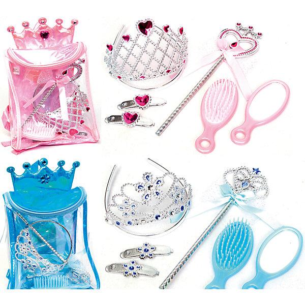 Игровой набор Рюкзачок с аксессуарами, BoleyКарнавальные костюмы для девочек<br>Характеристики товара:<br><br>• цвет: розовый, голубой<br>• размер: 18х21х10 см<br>• комплектация: рюкзак, волшебная палочка, диадема, 2 заколки, расческа, зеркало<br>• материал: пластик<br>• вес: 220 г<br>• страна бренда: США<br>• страна производства: Китай<br><br>Игровой набор, состоящий из аксесуаров для принцессы - желанный подарок для девочки! Предметы очень качественно выполнены, благодаря наличию всего необходимого с ним можно создать впечатляющий карнавальный костбм или придумать множество игр! С ним девочка почувствует себя настоящей принцессой!<br>Подобные игры помогают девочкам развивать важные навыки и способности, они активизируют мышление, творческие способности, мелкую моторику и воображение, помогают проработать сценарии взаимодействия с людьми. Изделие производится из качественных сертифицированных материалов, безопасных даже для самых маленьких.<br><br>Игровой набор Рюкзачок с аксессуарами от бренда Boley можно купить в нашем интернет-магазине.<br><br>Ширина мм: 180<br>Глубина мм: 210<br>Высота мм: 100<br>Вес г: 218<br>Возраст от месяцев: 36<br>Возраст до месяцев: 2147483647<br>Пол: Женский<br>Возраст: Детский<br>SKU: 5224456