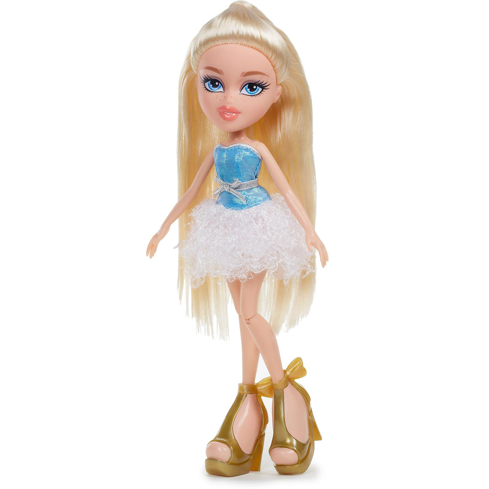 Базовая кукла Хлоя, Вечеринка, BratzКуклы-модели<br>Характеристики товара:<br><br>• высота : 29 см<br>• размер упаковки: 25х6х30 см<br>• материал: пластик, текстиль<br>• комплект: кукла, джинсы, куртка, серьги, сумочка, бусы, кошелек<br>• возраст: от пяти лет<br>• подвижные руки, ноги сгибаются в коленях<br>• страна бренда: США<br>• страна производства: Китай<br><br>Кукла Bratz - желанный подарок для современной девочки, они просто обожают эти игрушки. Кукла очень качественно выполнена, благодаря подвижным деталям с ней можно придумать множество игр! В наборе к ней идут стильные аксессуары - благодаря им девочка будет учиться хорошо одеваться.<br>Игра с куклами помогает девочкам развивать важные социальные навыки и способности, она активизирует мышление, формирует умение заботиться о других, логику, мелкую моторику и воображение, помогает проработать сценарии взаимодействия с людьми. Изделие производится из качественных сертифицированных материалов, безопасных даже для самых маленьких.<br><br>Базовую куклу Хлоя, Вечеринка, от бренда Bratz можно купить в нашем интернет-магазине.<br><br>Ширина мм: 260<br>Глубина мм: 300<br>Высота мм: 70<br>Вес г: 495<br>Возраст от месяцев: 36<br>Возраст до месяцев: 2147483647<br>Пол: Женский<br>Возраст: Детский<br>SKU: 5224457