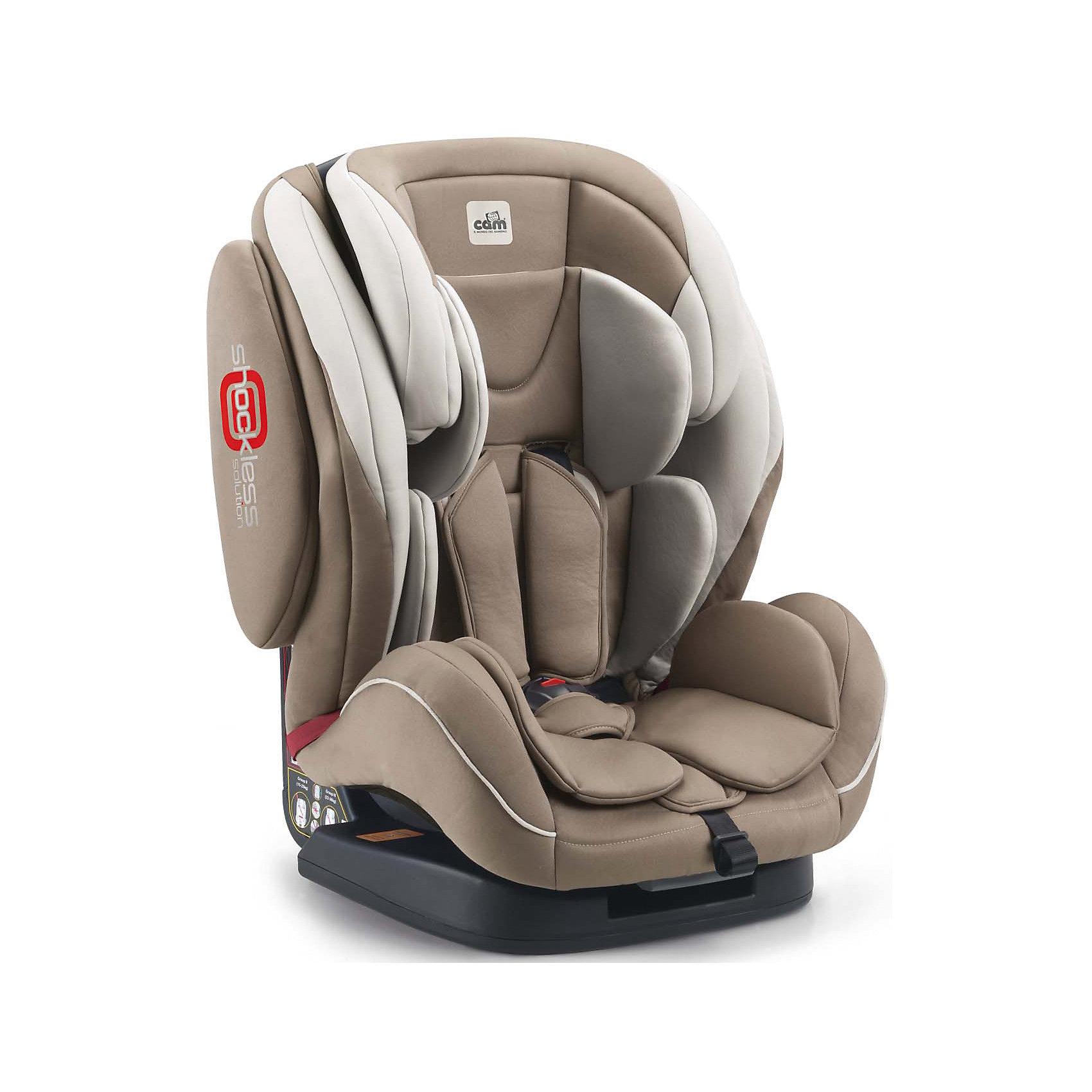 Автокресло Regolo, 9-36 кг., CAM, кремовыйАвтокресло Regolo, 9-36 кг., CAM, кремовый.<br><br>Характеристики:<br><br>- Для детей от 1 года до 10-12 лет (от 9 до 36 кг)<br>- Группа 1-2-3<br>- Материал: пластик, текстиль<br>- Цвет: кремовый<br>- Размер кресла: 52x50x64 см.<br>- Вес: 9,6 кг.<br><br>Автокресло Regolo CAM - это комфортная надежная модель, которая сделает поездку Вашего ребенка приятной и безопасной. Благодаря особой конструкции автокресло может использоваться в течение длительного времени и охватывает весовые категории детей от 1 года до 12 лет. Комфортное кресло оснащено эргономичной спинкой с регулируемым углом наклона (5 положений) и обеспечивает удобство сидения во время длительных поездок. Противоударный каркас и усиленная боковая защита уберегут ребёнка от серьезных травм. Боковую защиту и подголовник можно изменить по высоте, а потому ребенок по мере взросления всегда будет надежно защищен. Для малышей предусмотрен мягкий анатомический вкладыш. Регулируемые 5-точечные ремни безопасности с мягкими плечевыми накладками, накладкой между ножек и центральным замком надежно удерживают ребенка в кресле. Автокресло устанавливается лицом вперед, по ходу движения автомобиля с помощью штатных ремней безопасности. На корпусе автокресла имеется понятная маршрутизация, облегчающая правильное крепление штатных ремней безопасности. Кресло изготовлено из высококачественных материалов, износостойкие тканевые чехлы снимаются для чистки или стирки при температуре 30 градусов. Безопасность в пути подтверждена испытаниями (нормы ECE-R / 44 04 соблюдены), а экологическая безопасность материалов автокресла соответствует нормам 2005/84/СЕ (отсутствуют токсические вещества и фталат).<br><br>Автокресло Regolo, 9-36 кг., CAM, кремовое можно купить в нашем интернет-магазине.<br><br>Ширина мм: 465<br>Глубина мм: 440<br>Высота мм: 800<br>Вес г: 12000<br>Возраст от месяцев: 12<br>Возраст до месяцев: 144<br>Пол: Унисекс<br>Возраст: Детский<br>SKU: 5225142