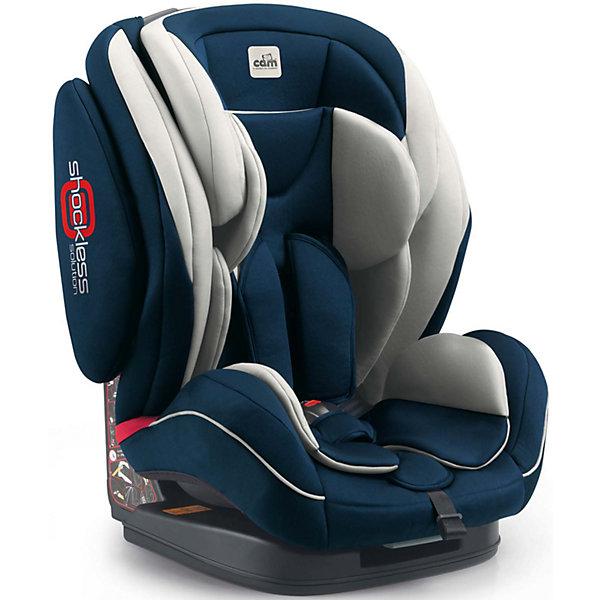 Автокресло CAM Regolo, 9-36 кг, синийГруппа 1-2-3  (от 9 до 36 кг)<br>Автокресло Regolo, 9-36 кг., CAM, синий.<br><br>Характеристики:<br><br>- Для детей от 1 года до 10-12 лет (от 9 до 36 кг)<br>- Группа 1-2-3<br>- Материал: пластик, текстиль<br>- Цвет: синий<br>- Размер кресла: 52x50x64 см.<br>- Вес: 9,6 кг.<br><br>Автокресло Regolo CAM - это комфортная надежная модель, которая сделает поездку Вашего ребенка приятной и безопасной. Благодаря особой конструкции автокресло может использоваться в течение длительного времени и охватывает весовые категории детей от 1 года до 12 лет. Комфортное кресло оснащено эргономичной спинкой с регулируемым углом наклона (5 положений) и обеспечивает удобство сидения во время длительных поездок. Противоударный каркас и усиленная боковая защита уберегут ребёнка от серьезных травм. Боковую защиту и подголовник можно изменить по высоте, а потому ребенок по мере взросления всегда будет надежно защищен. Для малышей предусмотрен мягкий анатомический вкладыш. Регулируемые 5-точечные ремни безопасности с мягкими плечевыми накладками, накладкой между ножек и центральным замком надежно удерживают ребенка в кресле. Автокресло устанавливается лицом вперед, по ходу движения автомобиля с помощью штатных ремней безопасности. На корпусе автокресла имеется понятная маршрутизация, облегчающая правильное крепление штатных ремней безопасности. Кресло изготовлено из высококачественных материалов, износостойкие тканевые чехлы снимаются для чистки или стирки при температуре 30 градусов. Безопасность в пути подтверждена испытаниями (нормы ECE-R / 44 04 соблюдены), а экологическая безопасность материалов автокресла соответствует нормам 2005/84/СЕ (отсутствуют токсические вещества и фталат).<br><br>Автокресло Regolo, 9-36 кг., CAM, синее можно купить в нашем интернет-магазине.<br><br>Ширина мм: 465<br>Глубина мм: 440<br>Высота мм: 800<br>Вес г: 12000<br>Возраст от месяцев: 12<br>Возраст до месяцев: 144<br>Пол: Унисекс<br>Возраст: Детский<br>SKU: 5225143