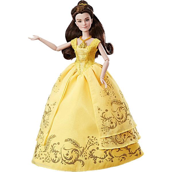 Кукла Hasbro Принцессы Дисней Бэлль в роскошном платьеИдеи подарков<br>Характеристики товара:<br><br>• возраст: от 3 лет;<br>• материал: пластик, текстиль;<br>• в комплекте: кукла, аксессуары;<br>• высота куклы: 29 см;<br>• размер упаковки: 35,6х22,9х7,6 см;<br>• вес упаковки: 174 гр.;<br>• страна производитель: Китай.<br><br>Кукла «Бэлль в роскошном платье» Принцессы Дисней Hasbro — героиня известного мультфильма Дисней. Она одета в пышное золотистое платье, украшенное узорами, из фильма «Красавица и Чудовище». Дополняют яркий образ Бэлль аксессуары: ожерелье и туфельки. В руках она держит красную розу.<br><br>Руки куклы подвижны, сгибаются в локтях и кистях. И Бэлль густые каштановые волосы, которая девочка может расчесывать, заплетать или украшать, чтобы создать для Бэлль неповторимый образ для бала. <br><br>Куклу «Бэлль в роскошном платье» Принцессы Дисней Hasbro B9166 можно приобрести в нашем интернет-магазине.<br>Ширина мм: 357; Глубина мм: 226; Высота мм: 83; Вес г: 271; Возраст от месяцев: 36; Возраст до месяцев: 2147483647; Пол: Женский; Возраст: Детский; SKU: 5225692;