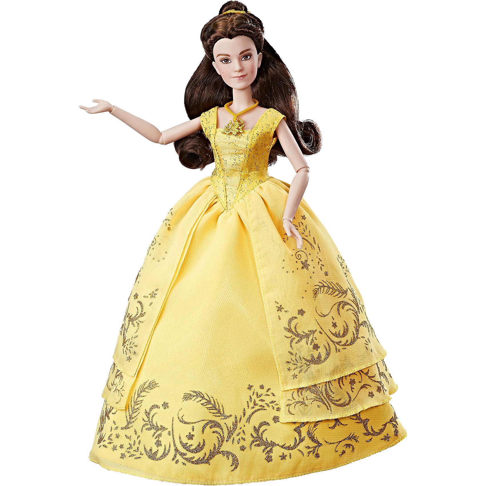 Кукла Hasbro Принцессы Дисней Бэлль в роскошном платьеПопулярные игрушки<br>Характеристики товара:<br><br>• возраст: от 3 лет;<br>• материал: пластик, текстиль;<br>• в комплекте: кукла, аксессуары;<br>• высота куклы: 29 см;<br>• размер упаковки: 35,6х22,9х7,6 см;<br>• вес упаковки: 174 гр.;<br>• страна производитель: Китай.<br><br>Кукла «Бэлль в роскошном платье» Принцессы Дисней Hasbro — героиня известного мультфильма Дисней. Она одета в пышное золотистое платье, украшенное узорами, из фильма «Красавица и Чудовище». Дополняют яркий образ Бэлль аксессуары: ожерелье и туфельки. В руках она держит красную розу.<br><br>Руки куклы подвижны, сгибаются в локтях и кистях. И Бэлль густые каштановые волосы, которая девочка может расчесывать, заплетать или украшать, чтобы создать для Бэлль неповторимый образ для бала. <br><br>Куклу «Бэлль в роскошном платье» Принцессы Дисней Hasbro B9166 можно приобрести в нашем интернет-магазине.<br><br>Ширина мм: 357<br>Глубина мм: 226<br>Высота мм: 83<br>Вес г: 271<br>Возраст от месяцев: 36<br>Возраст до месяцев: 2147483647<br>Пол: Женский<br>Возраст: Детский<br>SKU: 5225692