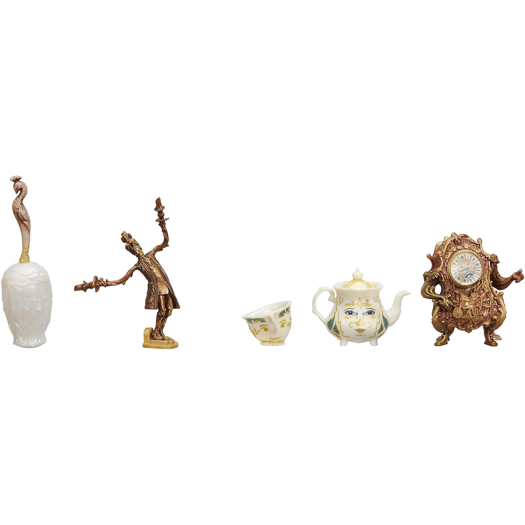 Набор маленьких кукол Красавица и чудовище, Принцессы ДиснейБелль - Красавица и Чудовище<br>Люди превратились в домашние предметы, эти заколдованные друзья помнят в Чудовище доброго и любящего мальчика, которым он когда-то был. Этот набор включает в себя Люмьер (конделябр), Когсворт (часы), Чип (чашка), Мадам Потт (чайник) и Плюмет. Проработка деталей и качество покраски очень высокого качества у все коллекционных фигурок.<br><br>Ширина мм: 254<br>Глубина мм: 203<br>Высота мм: 45<br>Вес г: 134<br>Возраст от месяцев: 36<br>Возраст до месяцев: 84<br>Пол: Женский<br>Возраст: Детский<br>SKU: 5225694