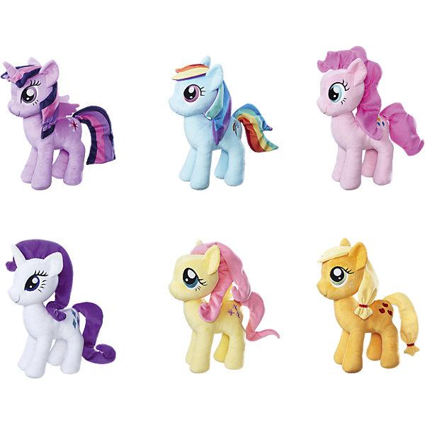 Плюшевые пони, в ассортименте, My little Pony, HasbroМягкие игрушки из мультфильмов<br>Характеристики:<br><br>• возраст: от 3 лет;<br>• материал: плюш;<br>• высота игрушки: 30 см;<br>• размер упаковки: 30,5х20,3х8,9 см;<br>• вес упаковки: 259 гр.;<br>• страна производитель: Китай;<br>• товар представлен в ассортименте.<br><br>Игрушка «Плюшевые пони» My Little Pony Hasbro создана по мотивам известного мультсериала «Мой Маленький Пони». Она представляет собой одного из персонажей мультфильма. У пони яркая грива и хвостик, выразительные глазки. Игрушку можно брать с собой на прогулку, в гости, детский садик и придумывать с ней увлекательные игры. Она выполнена из мягкого приятного на ощупь материала.<br><br>Игрушку «Плюшевые пони» My Little Pony Hasbro можно приобрести в нашем интернет-магазине.<br><br>Ширина мм: 9999<br>Глубина мм: 9999<br>Высота мм: 9999<br>Вес г: 9999<br>Возраст от месяцев: 36<br>Возраст до месяцев: 84<br>Пол: Женский<br>Возраст: Детский<br>SKU: 5225718