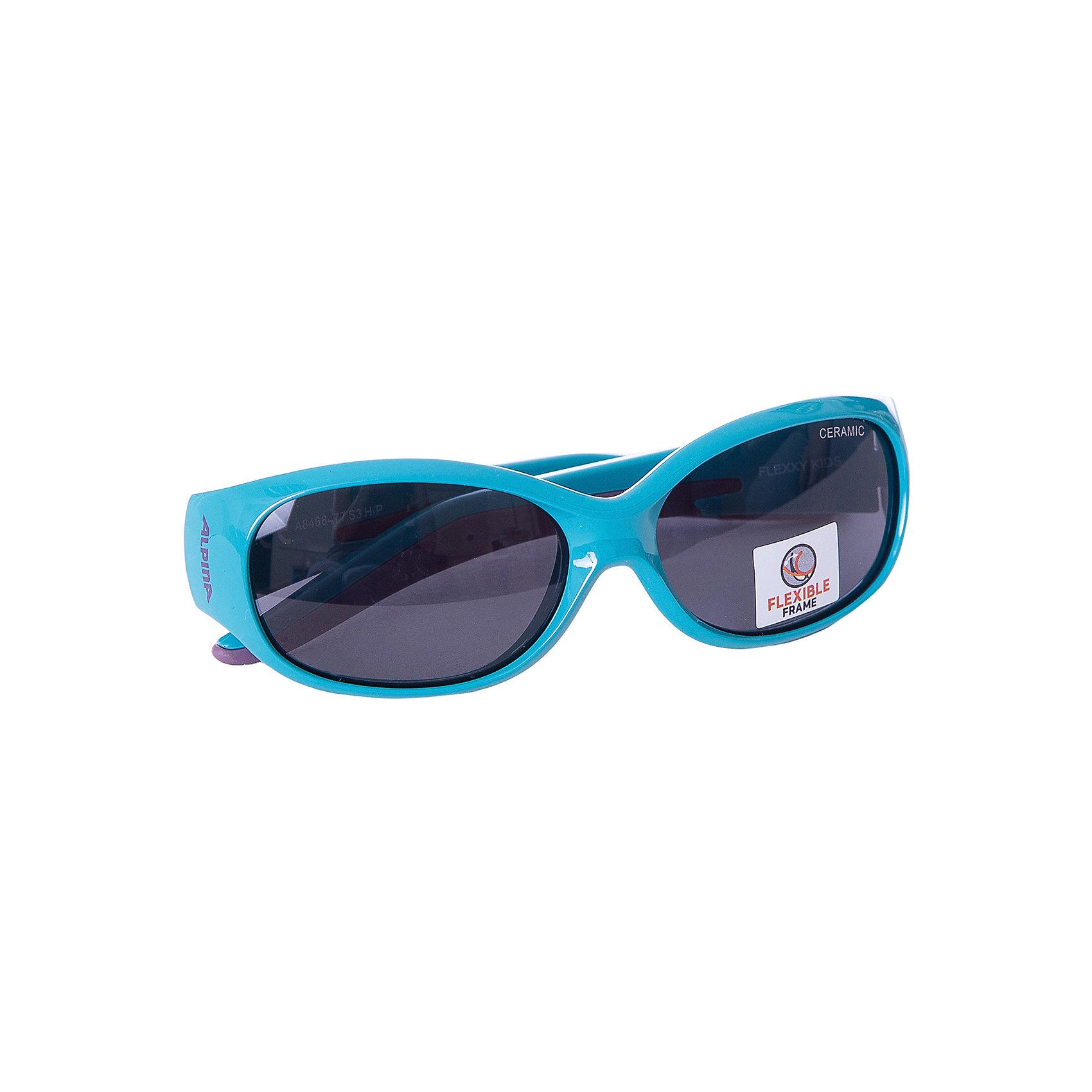 Очки солнцезащитные FLEXXY KIDS, ALPINAСолнцезащитные очки<br>Характеристики:<br><br>• возраст: от 4 лет;<br>• материал: пластик;<br>• размер упаковки: 19х3х3 см;<br>• вес упаковки: 200 гр.;<br>• страна производитель: Китай.<br><br>Очки солнцезащитные Alpina Flexxy Kids защищают глаза от попадания солнечных лучей во время прогулки, отдыха на природе, катания на велосипеде, занятий спортом. Линзы выполнены из прочного материала, устойчивого к разбиванию. Они защищают глаза от всех типов УФ-лучей и не запотевают.<br><br>Очки солнцезащитные Alpina Flexxy Kids можно приобрести в нашем интернет-магазине.<br><br>Ширина мм: 133<br>Глубина мм: 85<br>Высота мм: 40<br>Вес г: 37<br>Цвет: бирюзовый<br>Возраст от месяцев: 24<br>Возраст до месяцев: 60<br>Пол: Женский<br>Возраст: Детский<br>SKU: 5225746